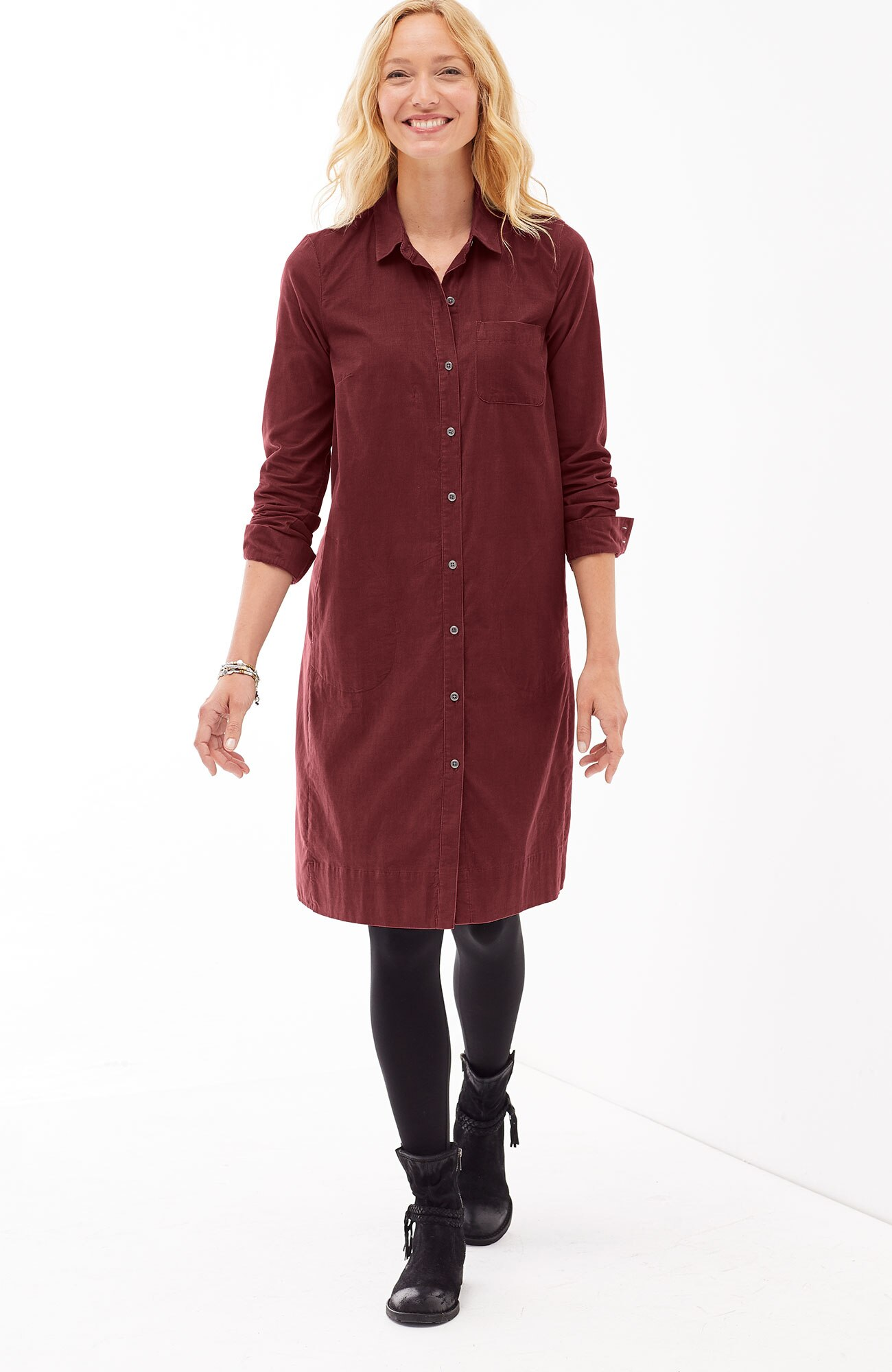light pincord shirtdress