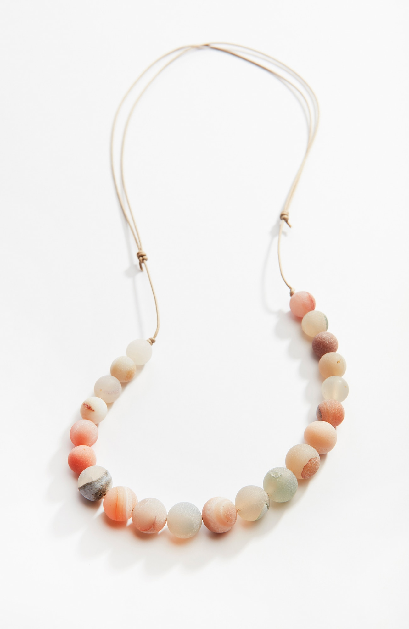 Pure Jill matte quartz necklace