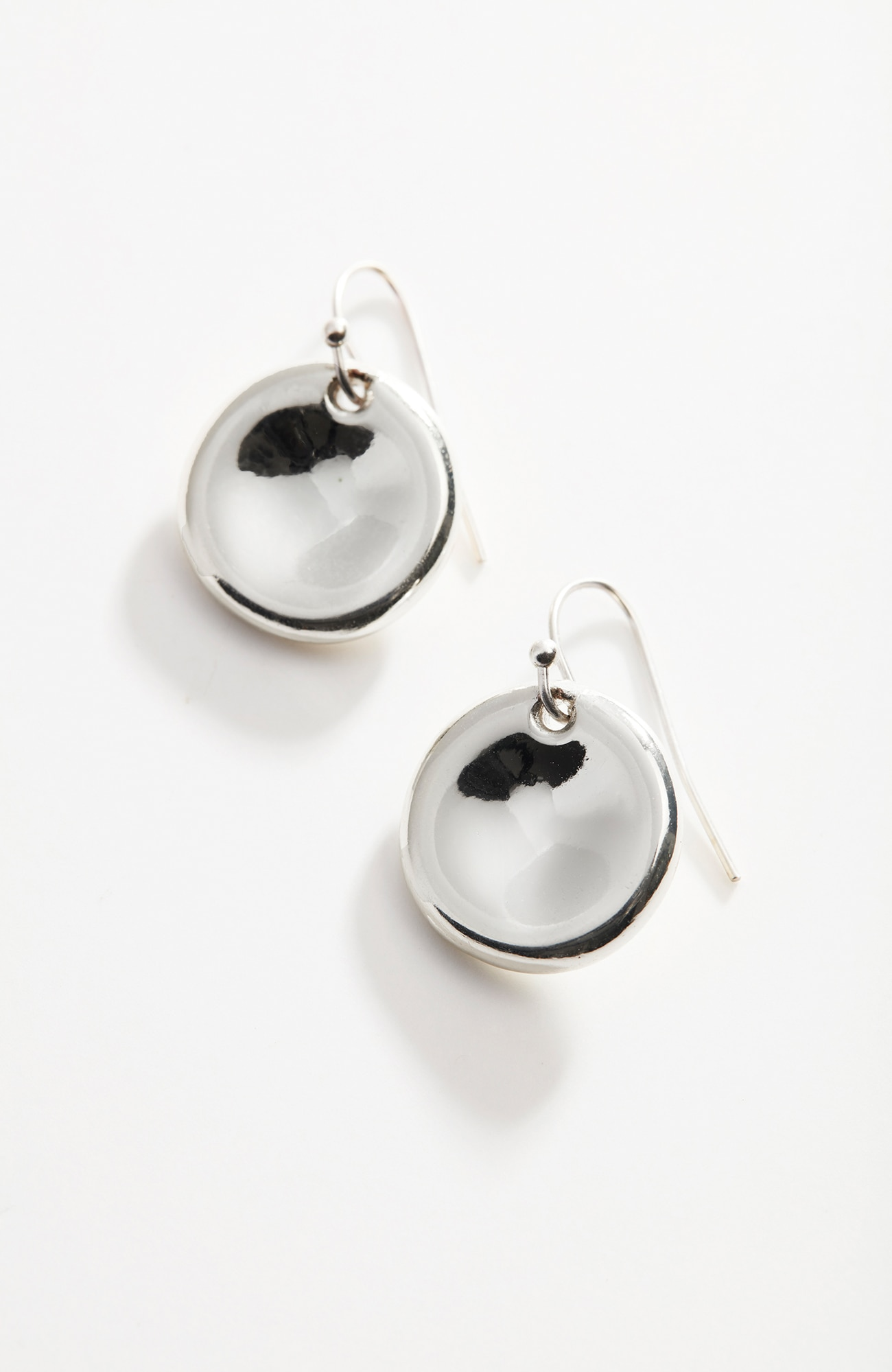sculpted-disk drop earrings