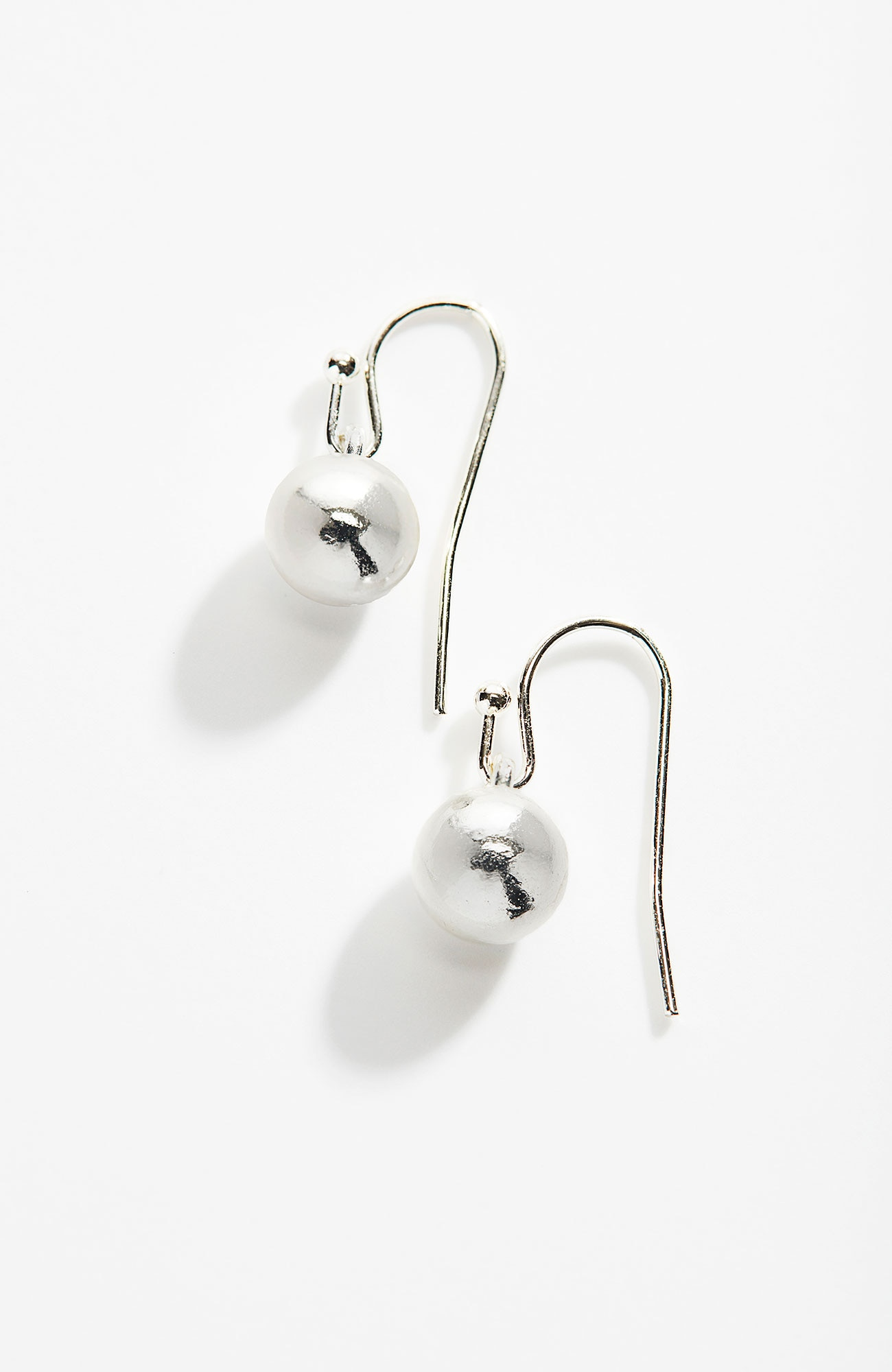 sculpted-metal earrings