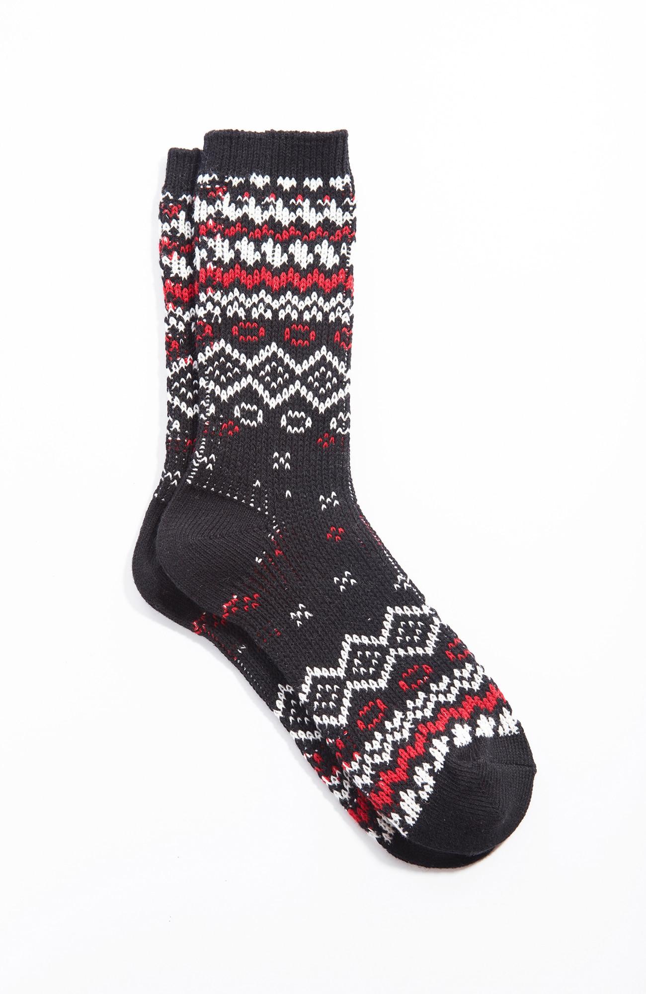 Fair Isle jacquard crew socks