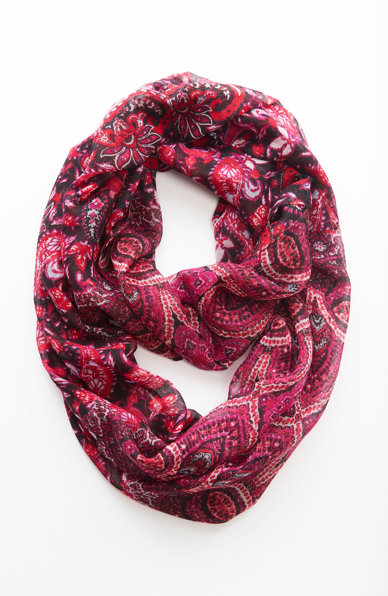 mixed paisley infinity scarf