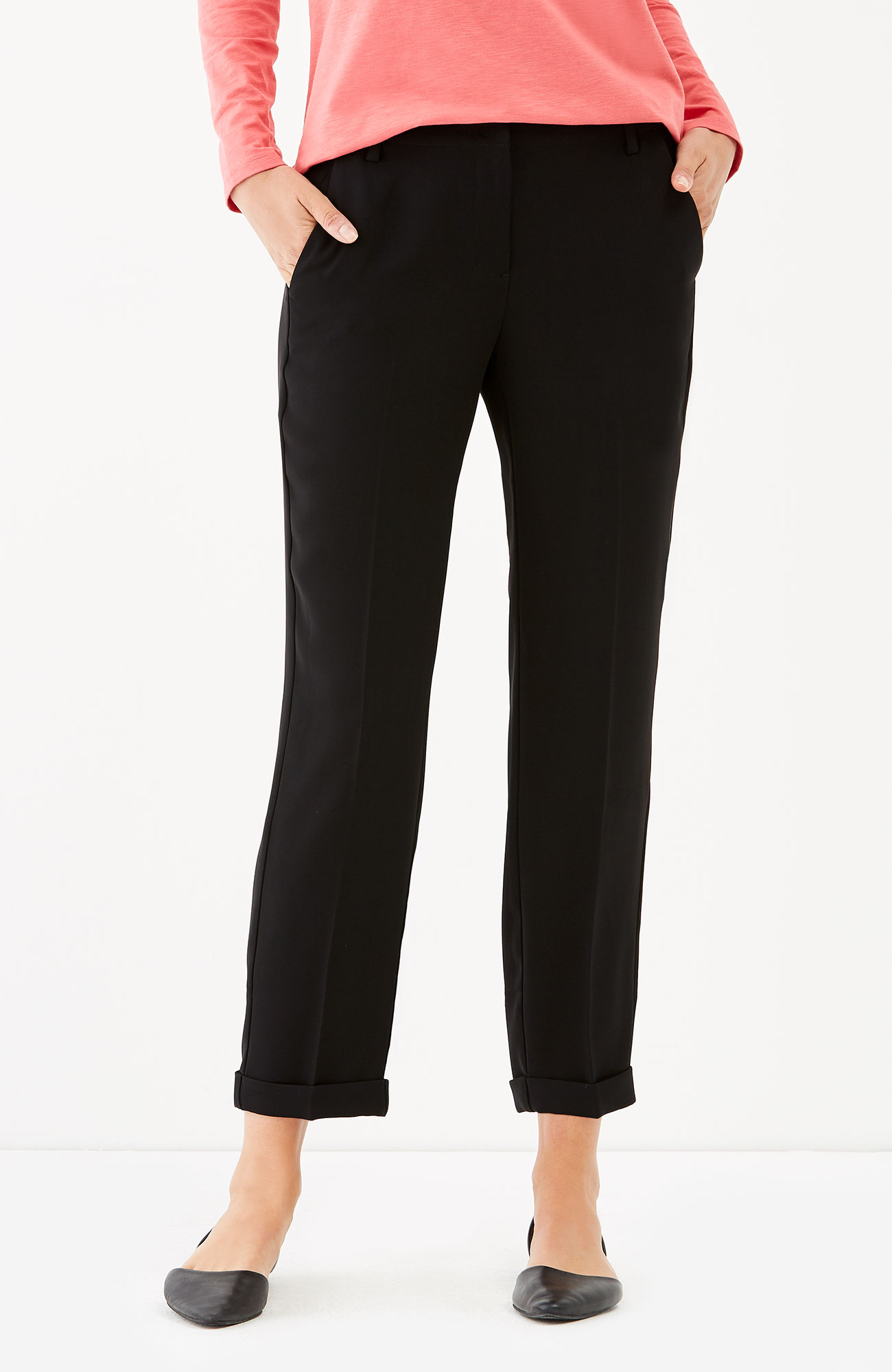 soft-drape cuffed pants