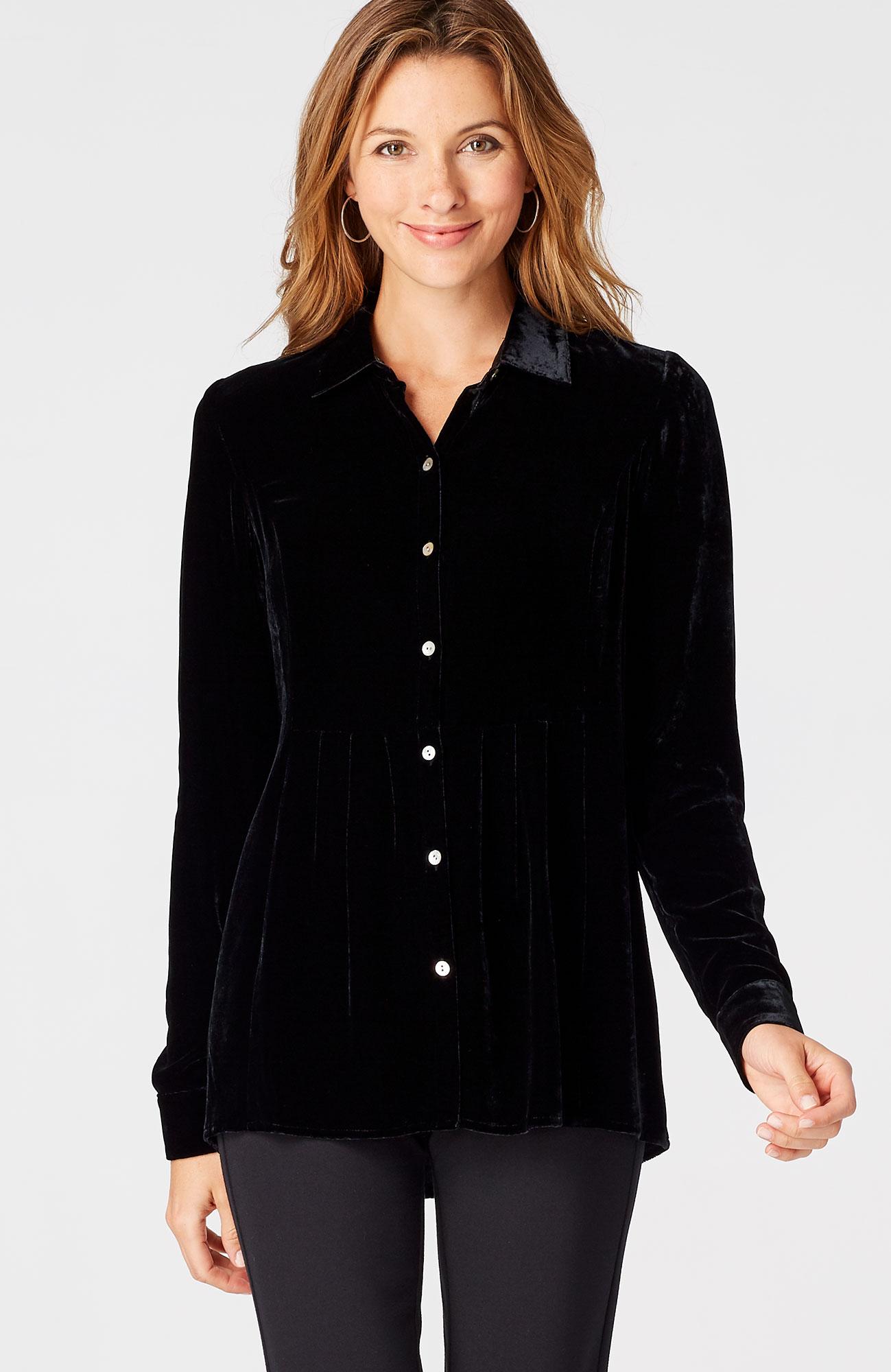 rayon & silk velvet shirt