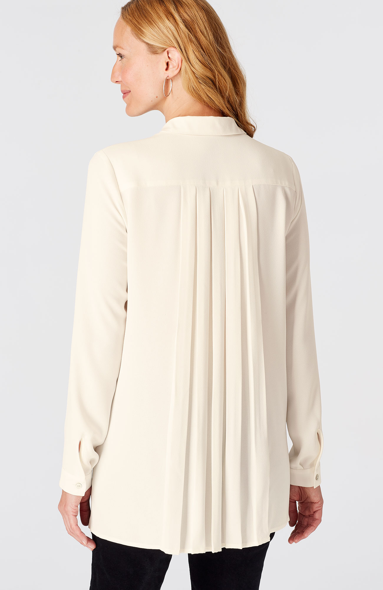 pleated-back tunic