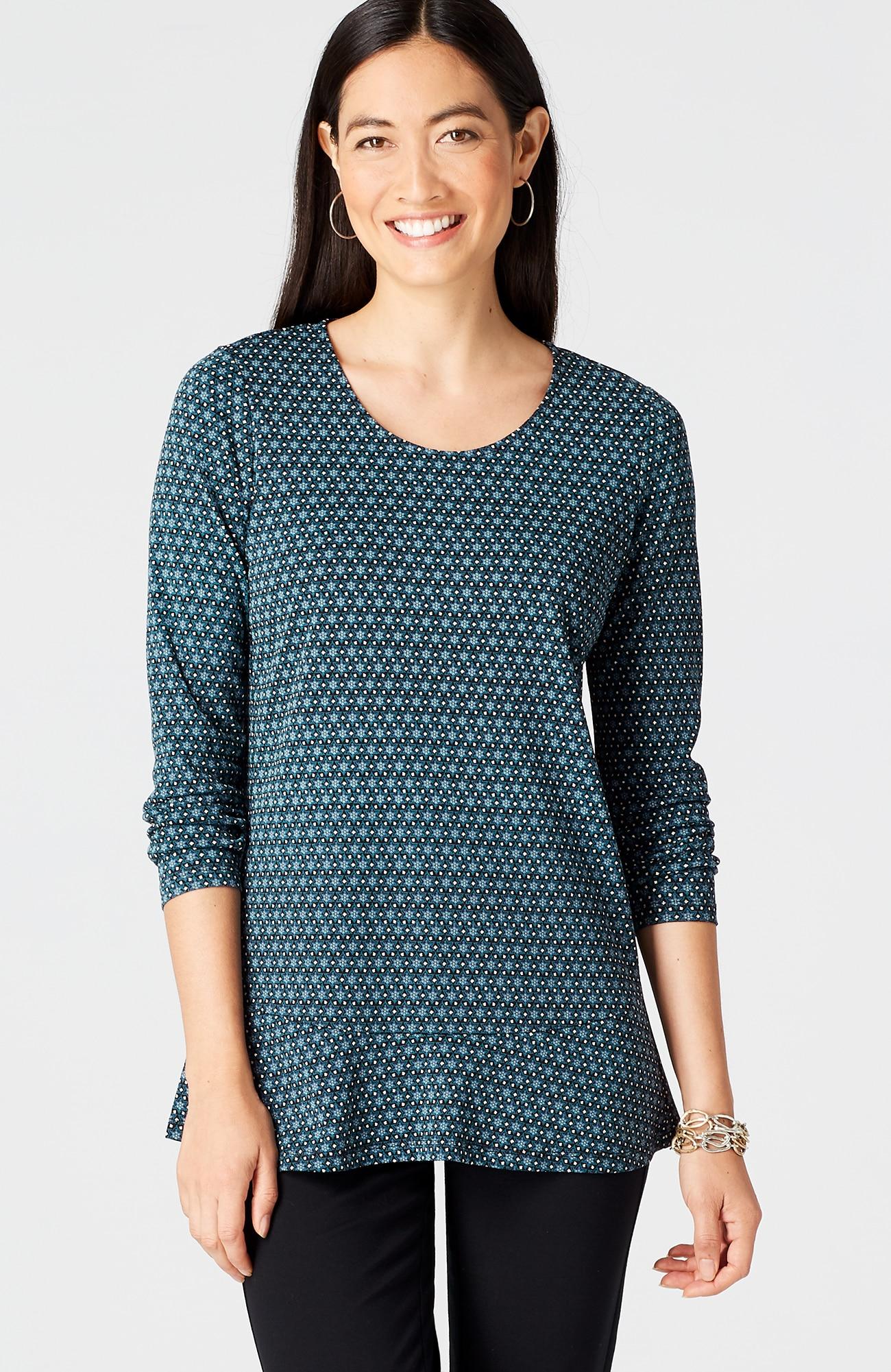 knit flutter-hem top