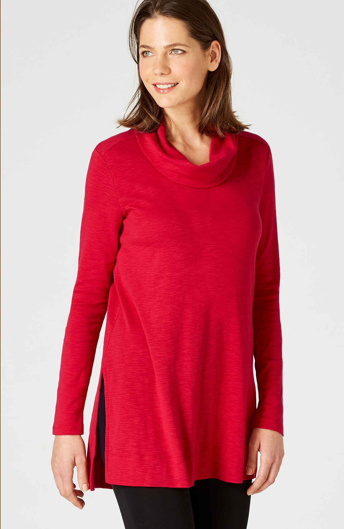 pima cowl-neck tunic