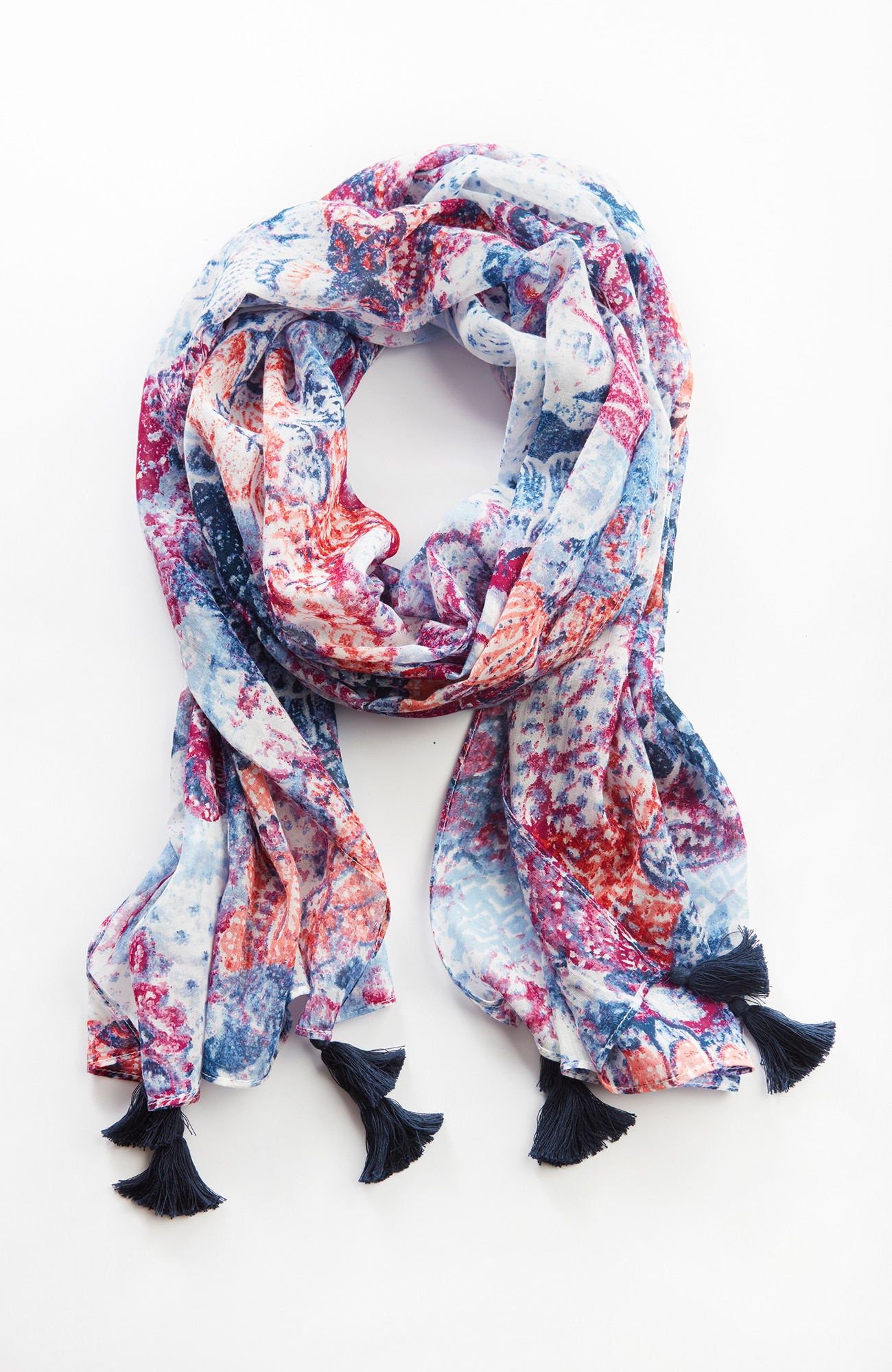 Pure Jill woodblock patchwork scarf