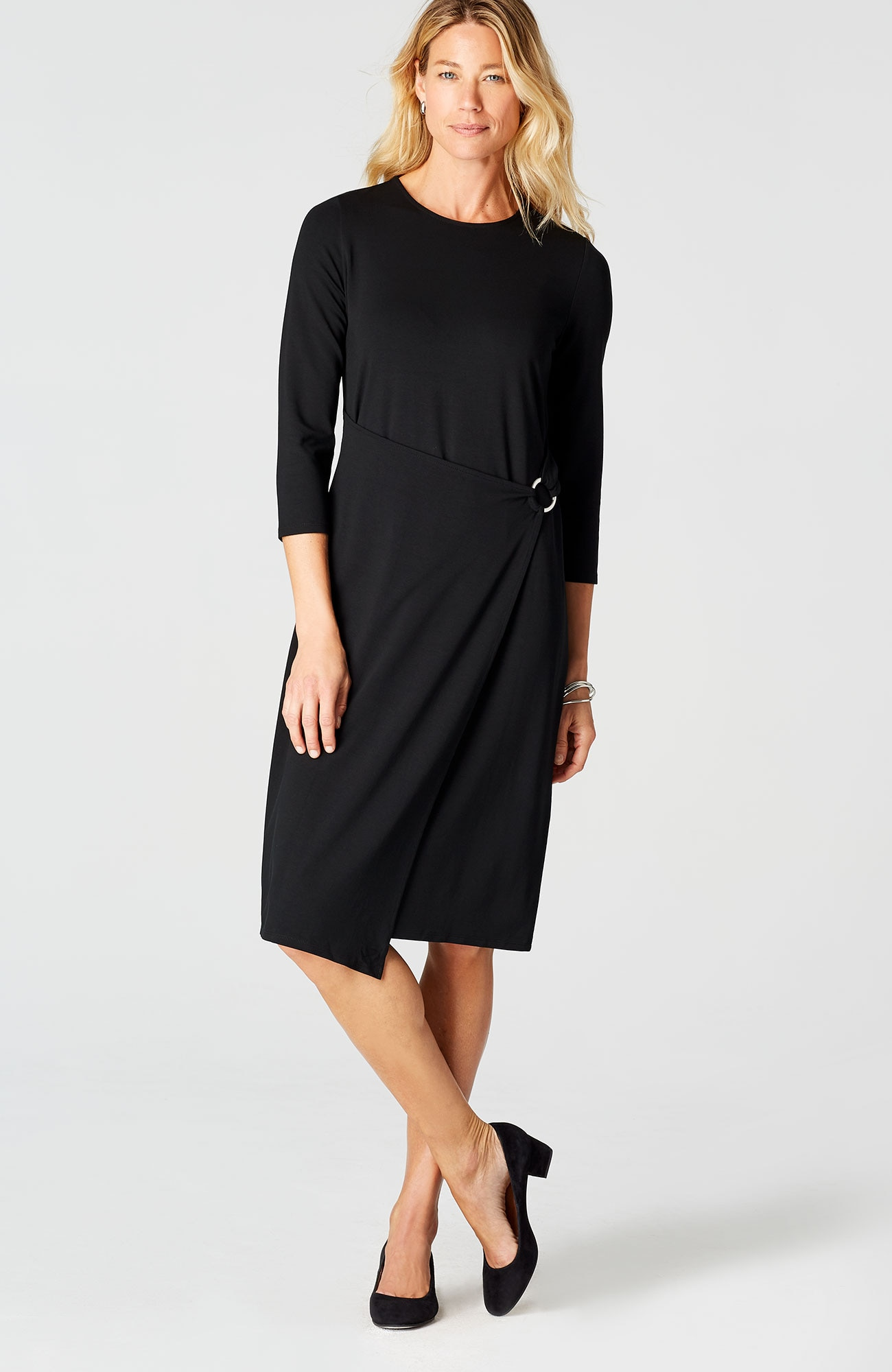 Wearever draped-front wrap-style dress