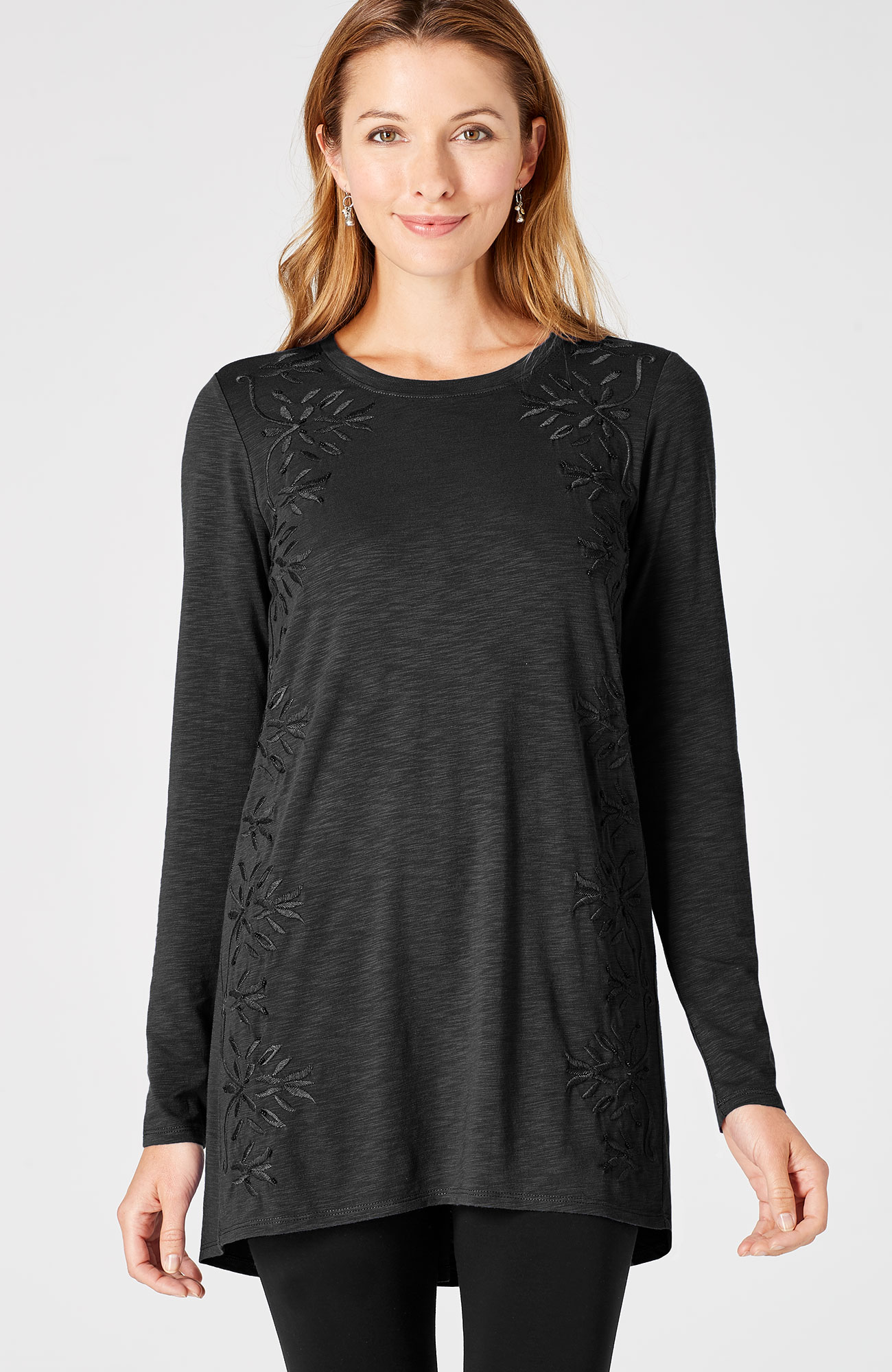 embroidered & beaded knit tunic