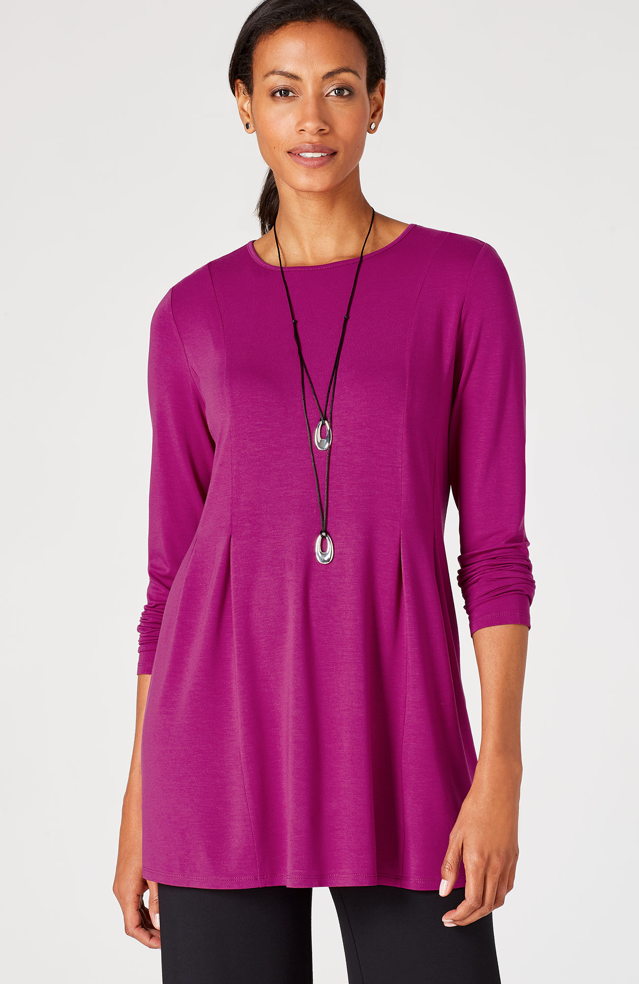 Wearever side-pleat tunic