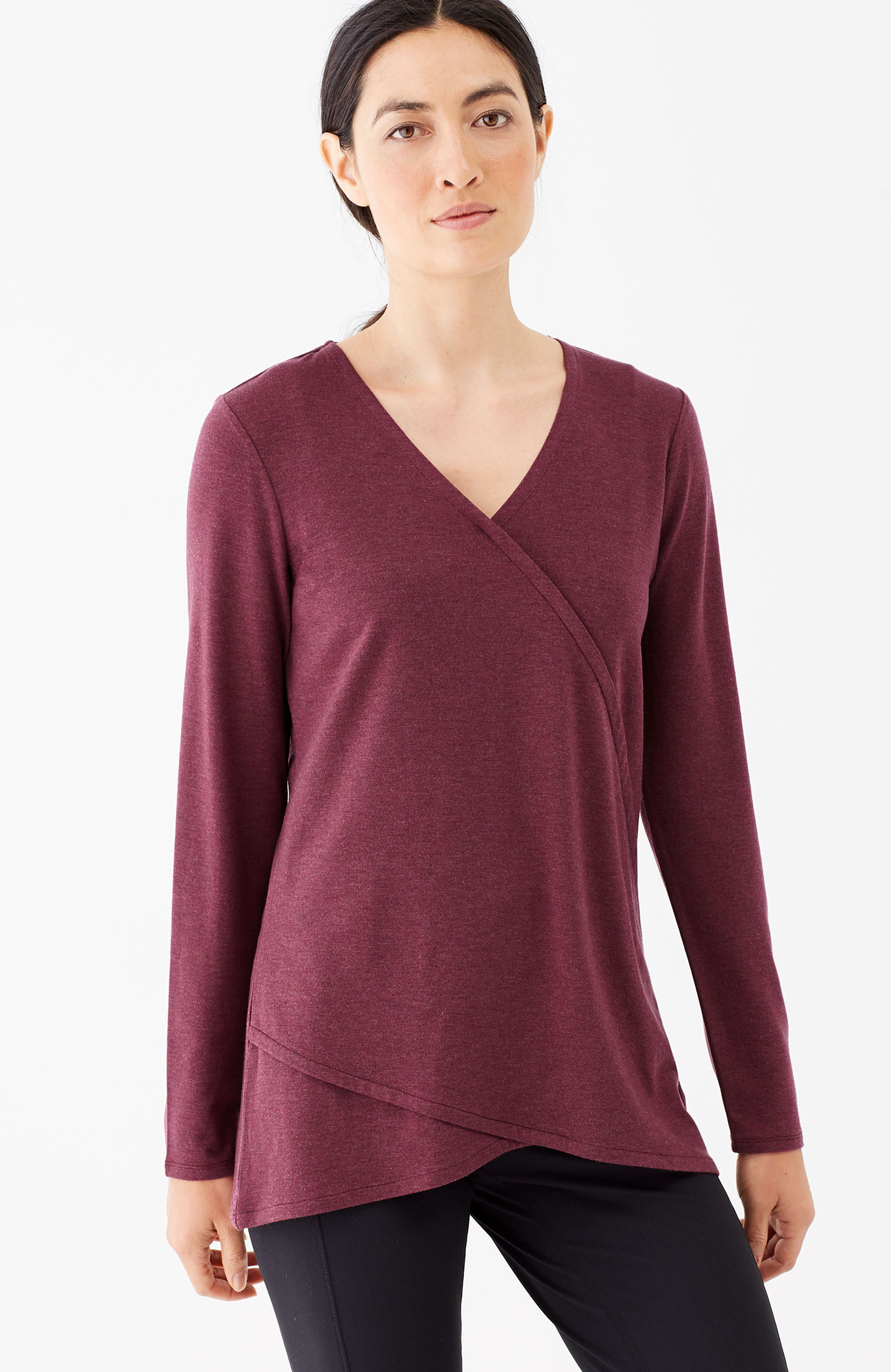 Pure Jill fit-wrap style top