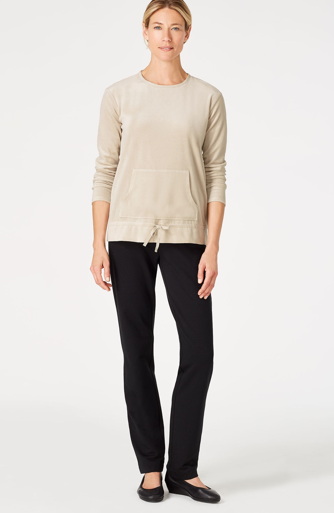 Pure Jill refined velour drawstring top