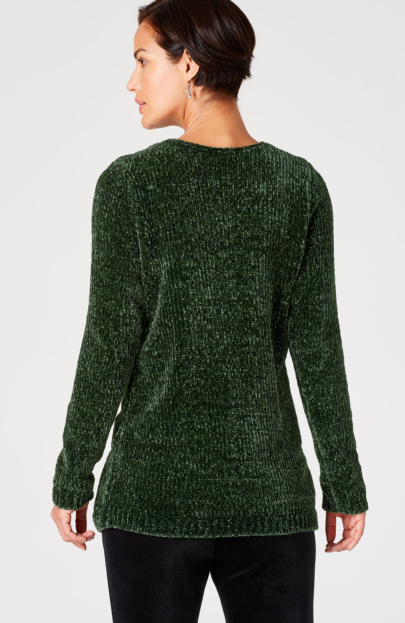 luxe chenille pullover