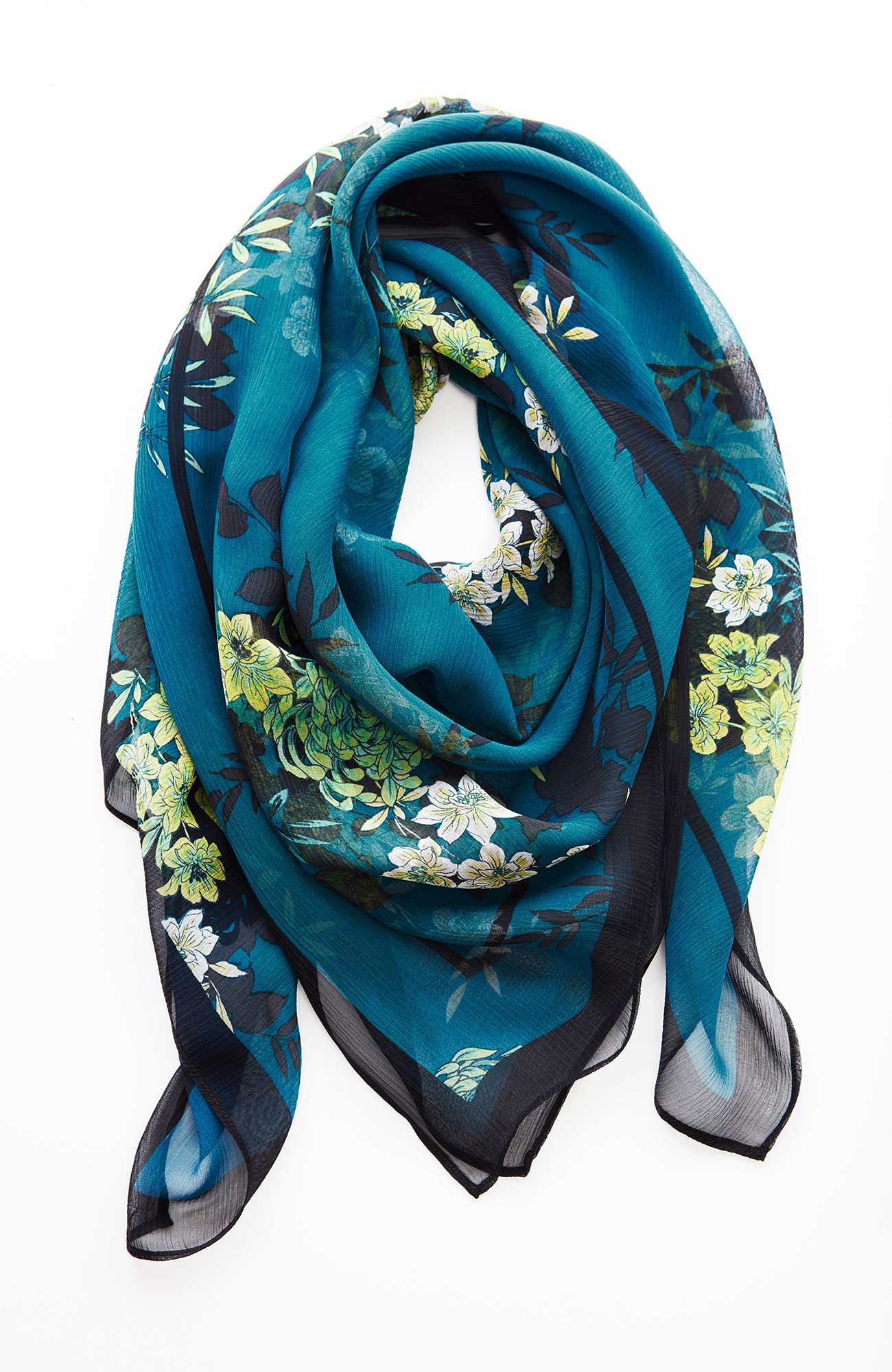 winter bouquet silk square scarf