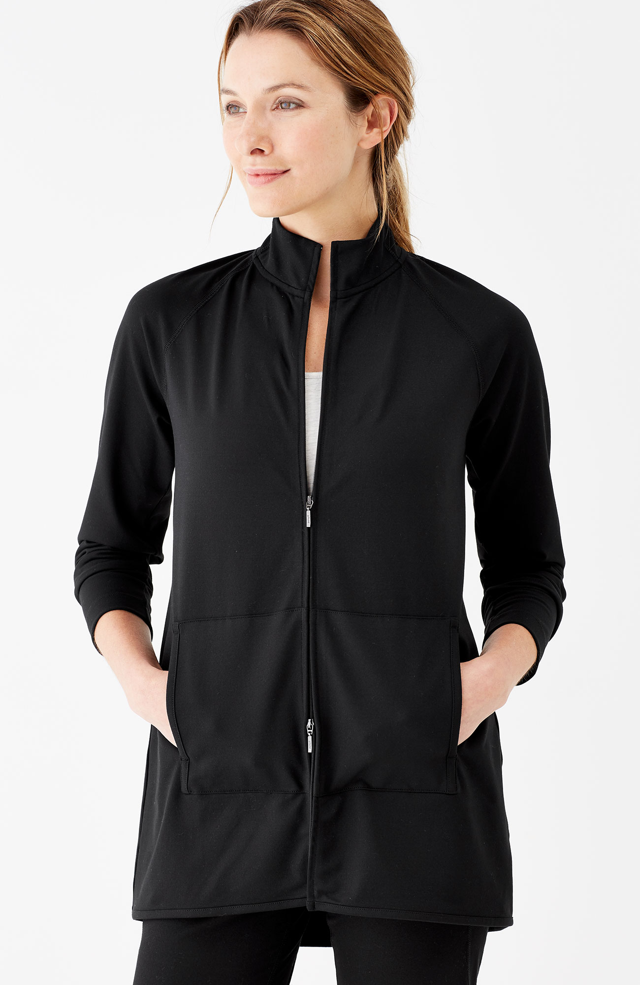 Pure Jill Fit Funnel-Neck Jacket