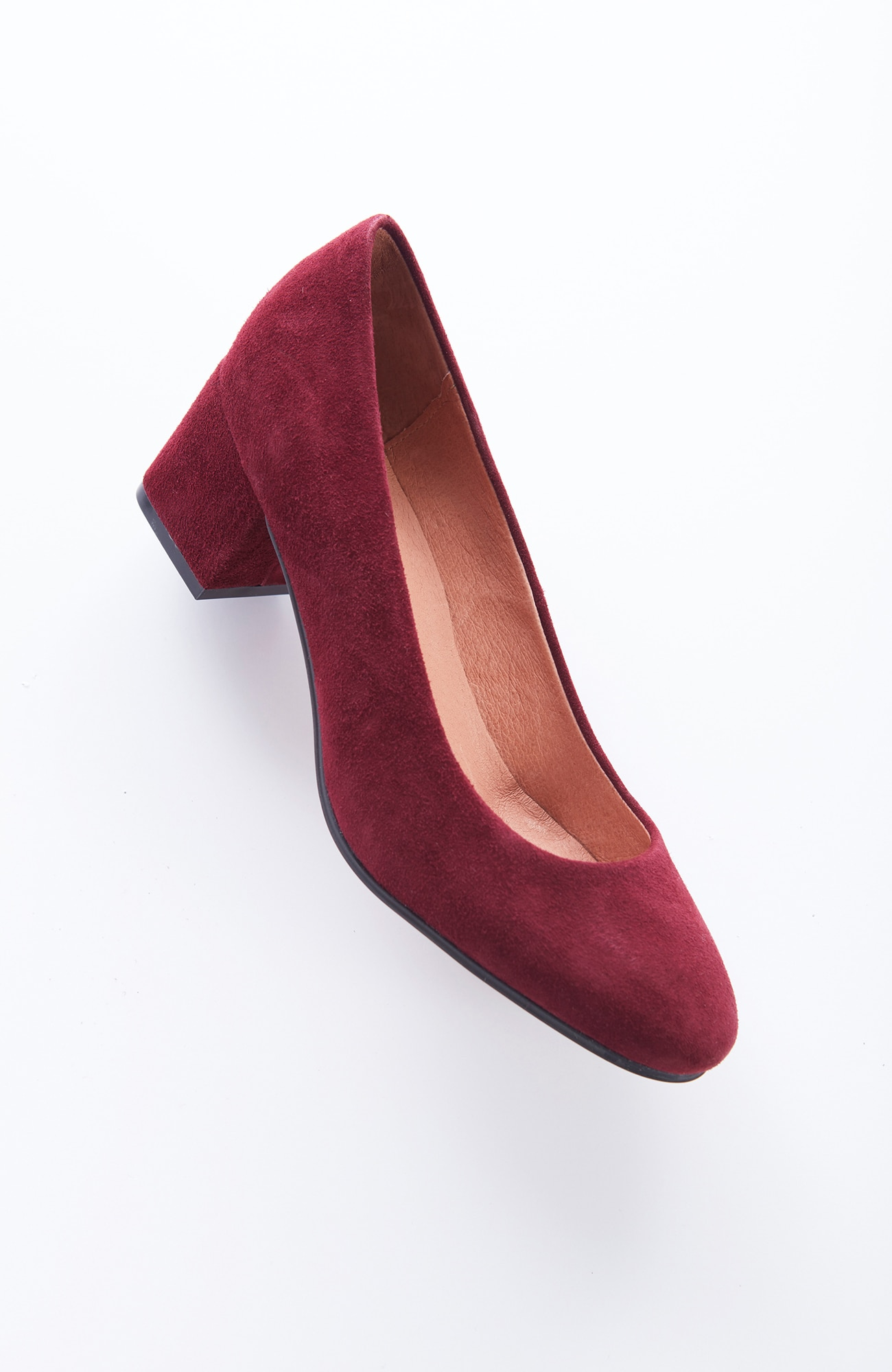 suede low block-heel pumps