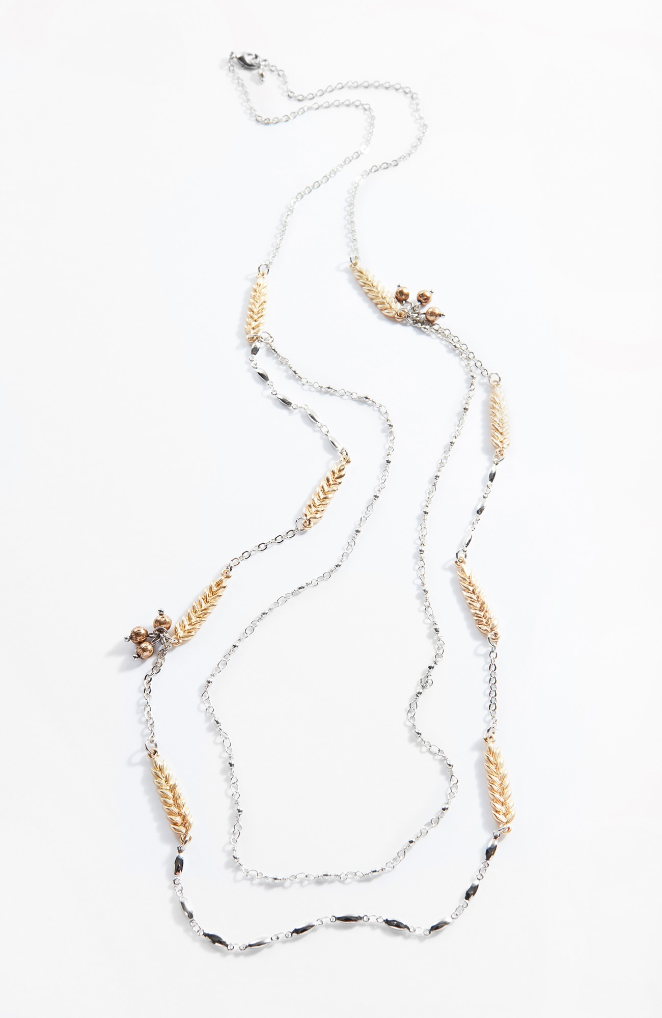 delicate wheat layered necklace