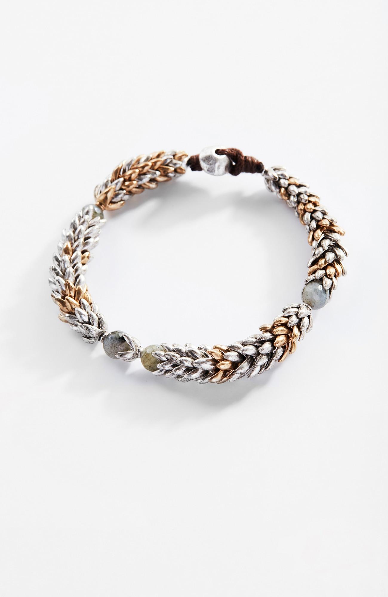 delicate wheat bracelet
