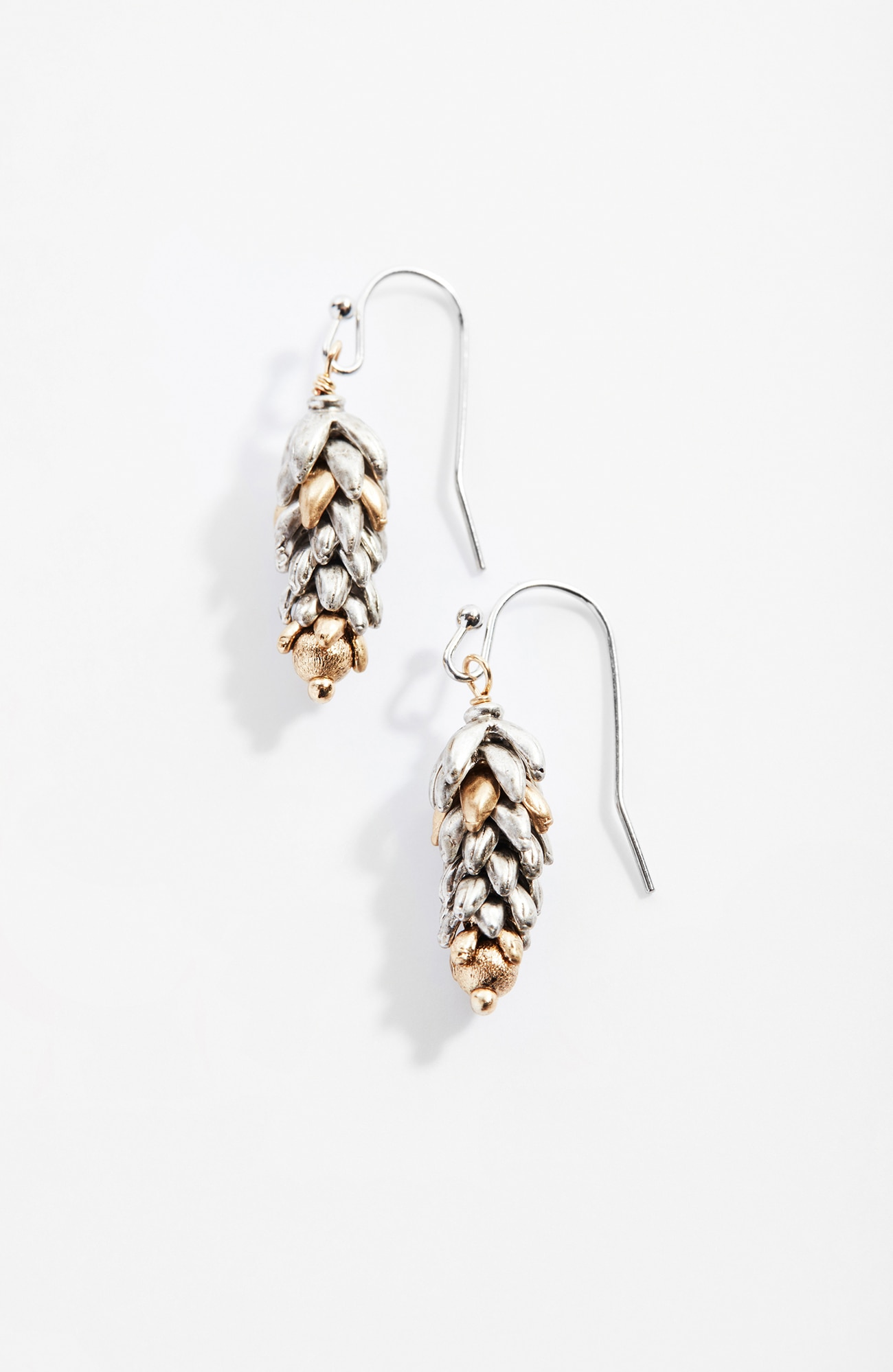 delicate wheat drop earrings