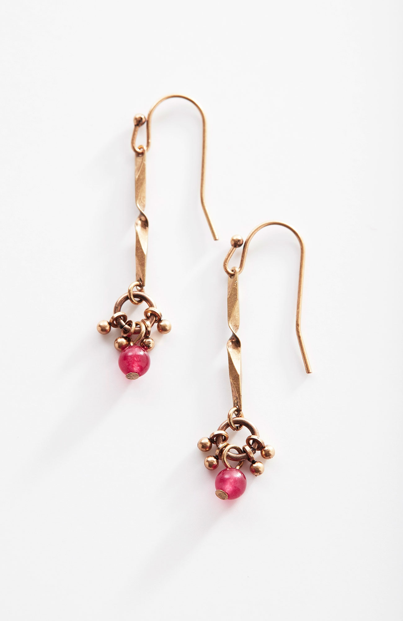 scarlet sky drop earrings