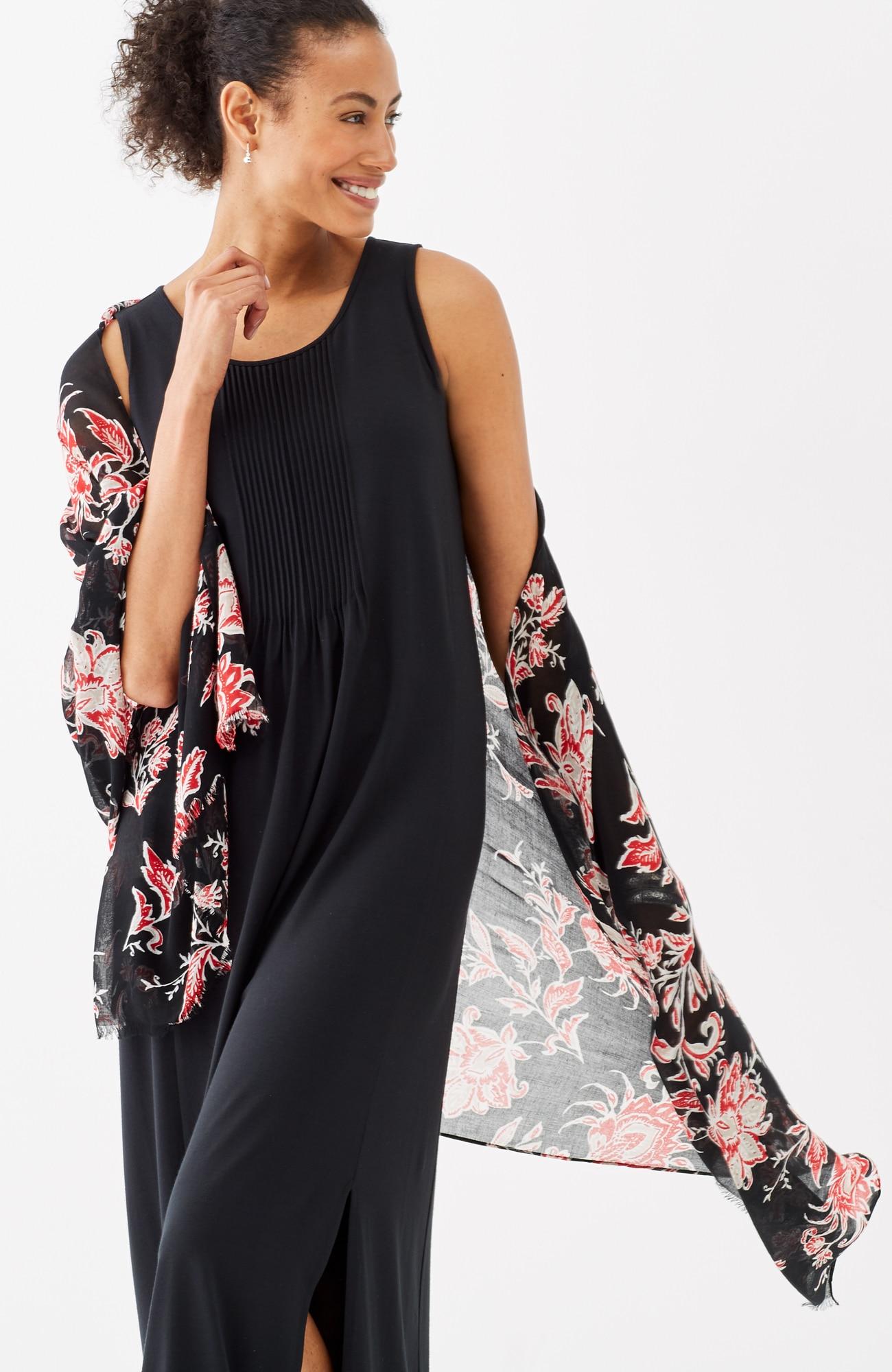 woodcut floral wrap