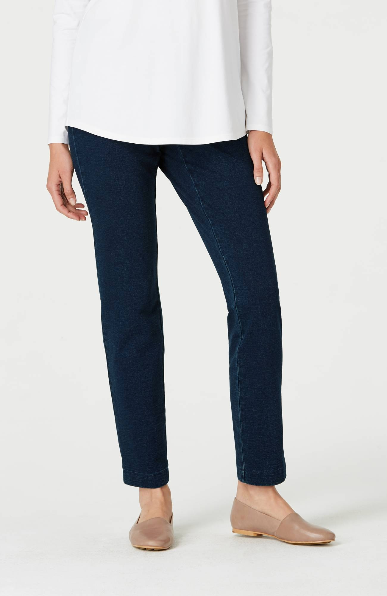 Pure Jill indigo knit tapered pants