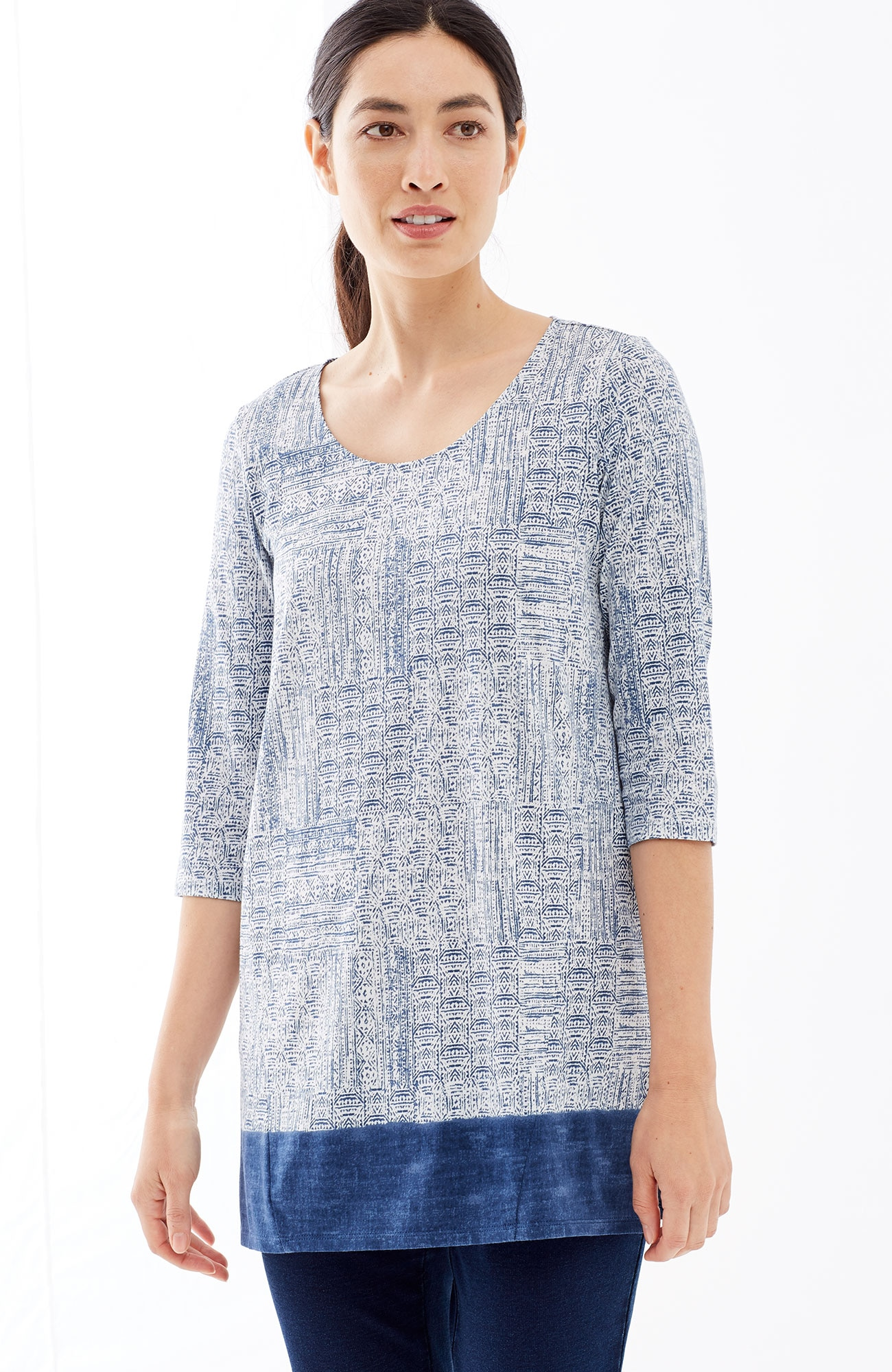 Pure Jill A-line print tunic