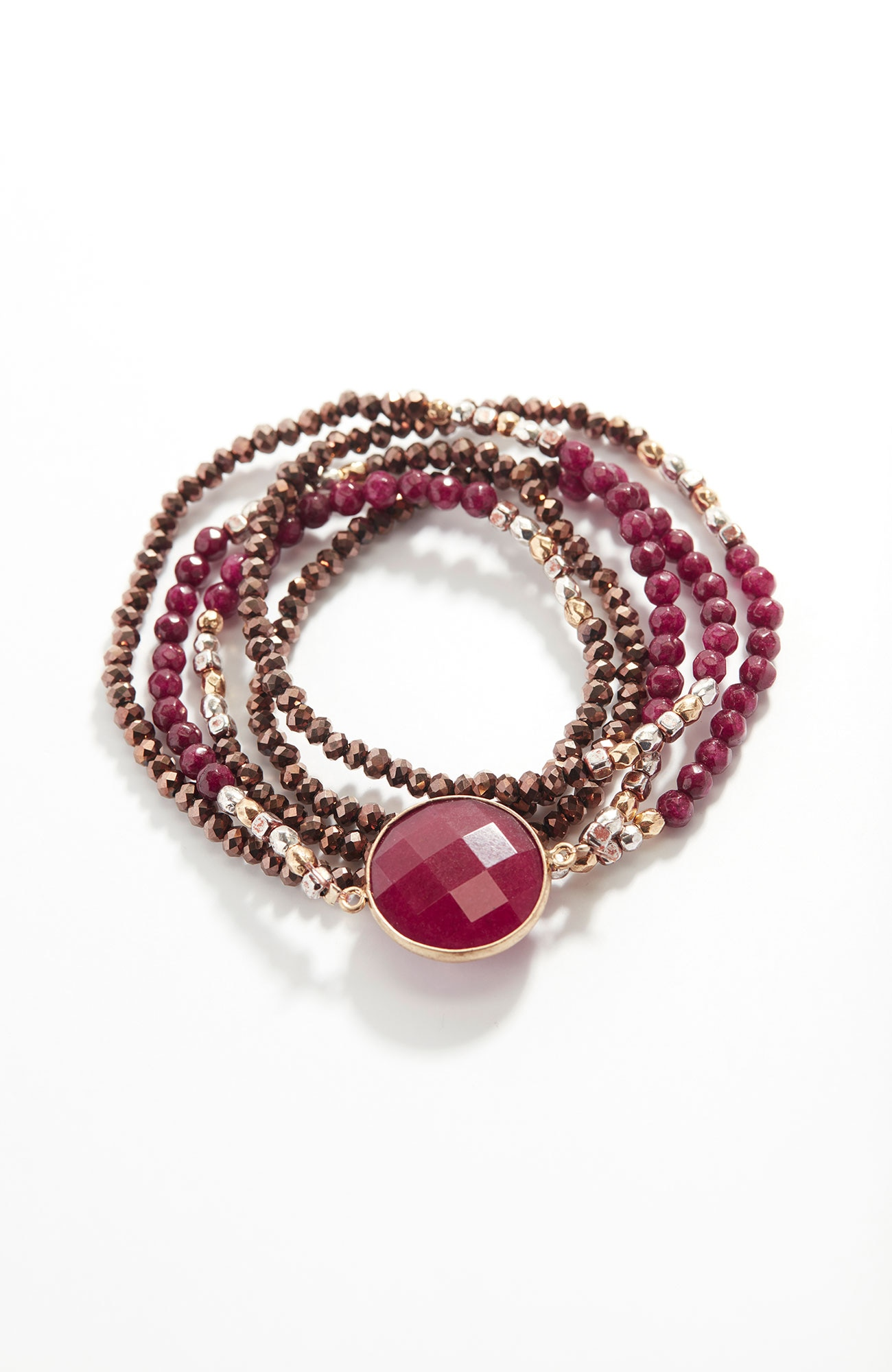scarlet sky beaded wrap bracelet