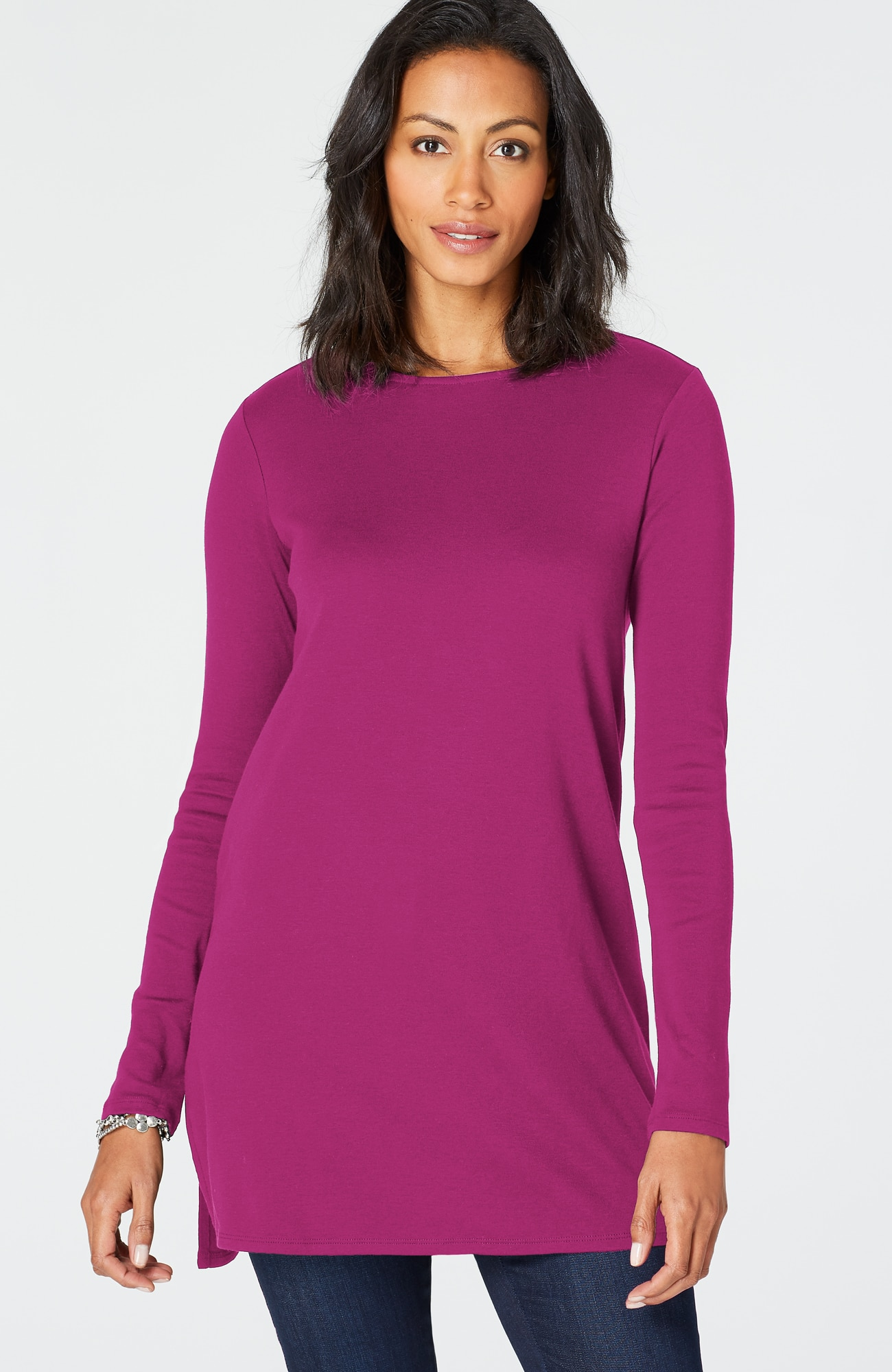 perfect pima crew-neck tunic