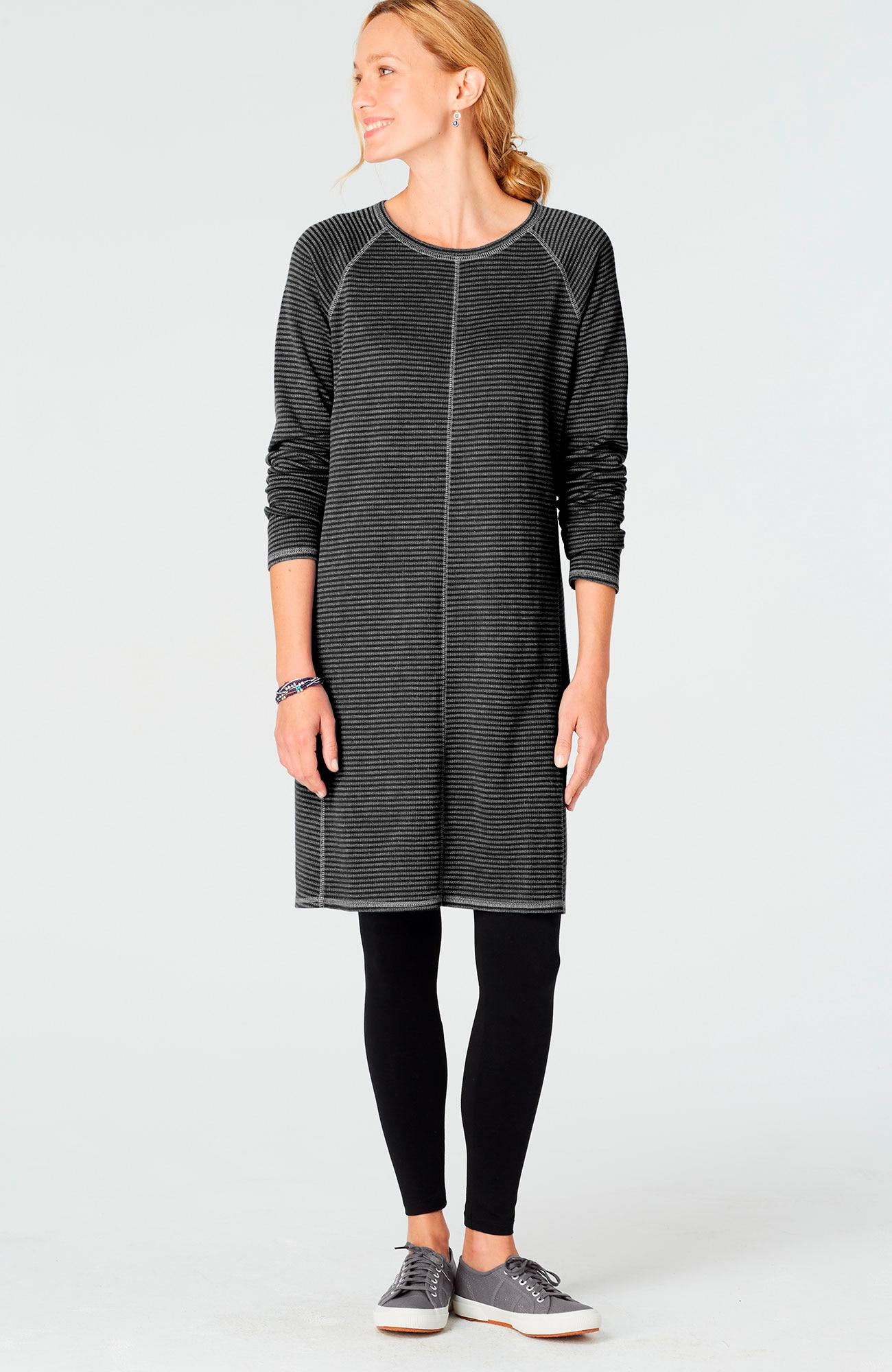 textured knit dress
