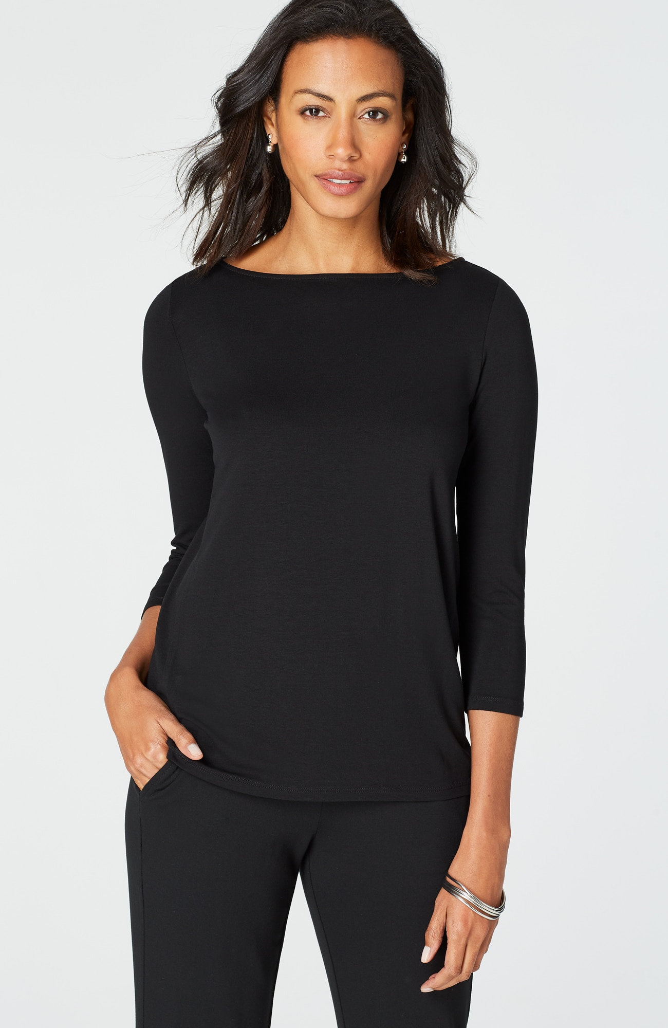 Wearever 3/4-sleeve easy top