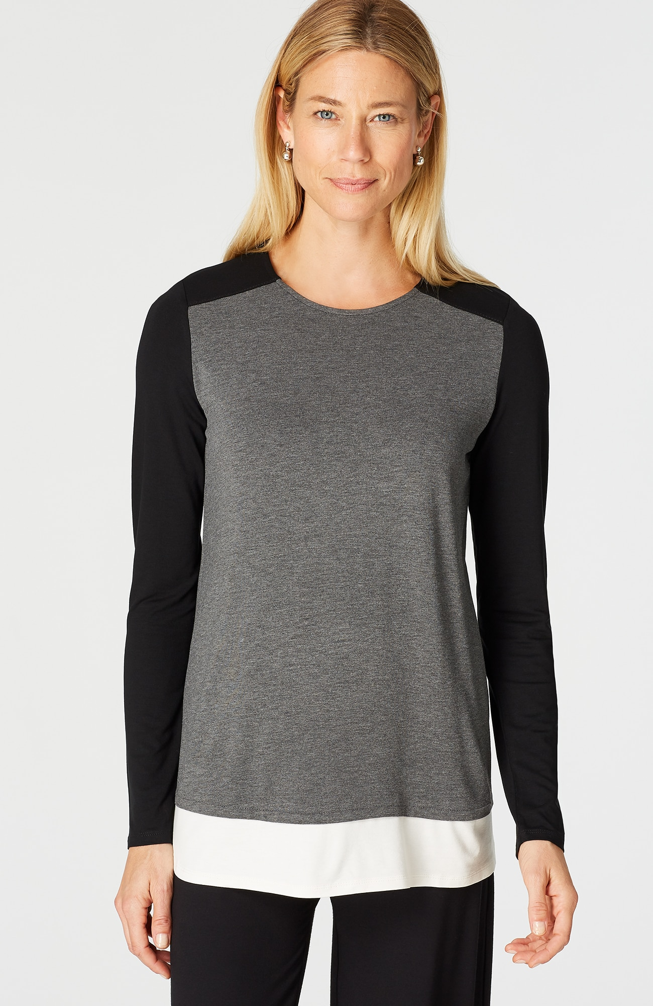 Wearever color block shirttail top