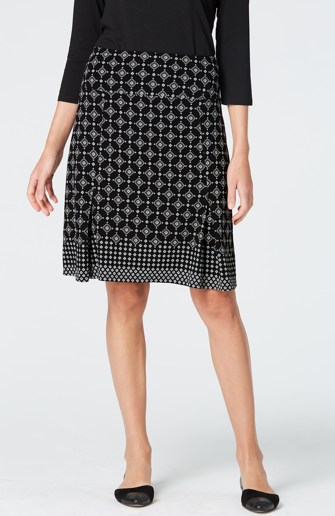 Wearever pleated print skirt