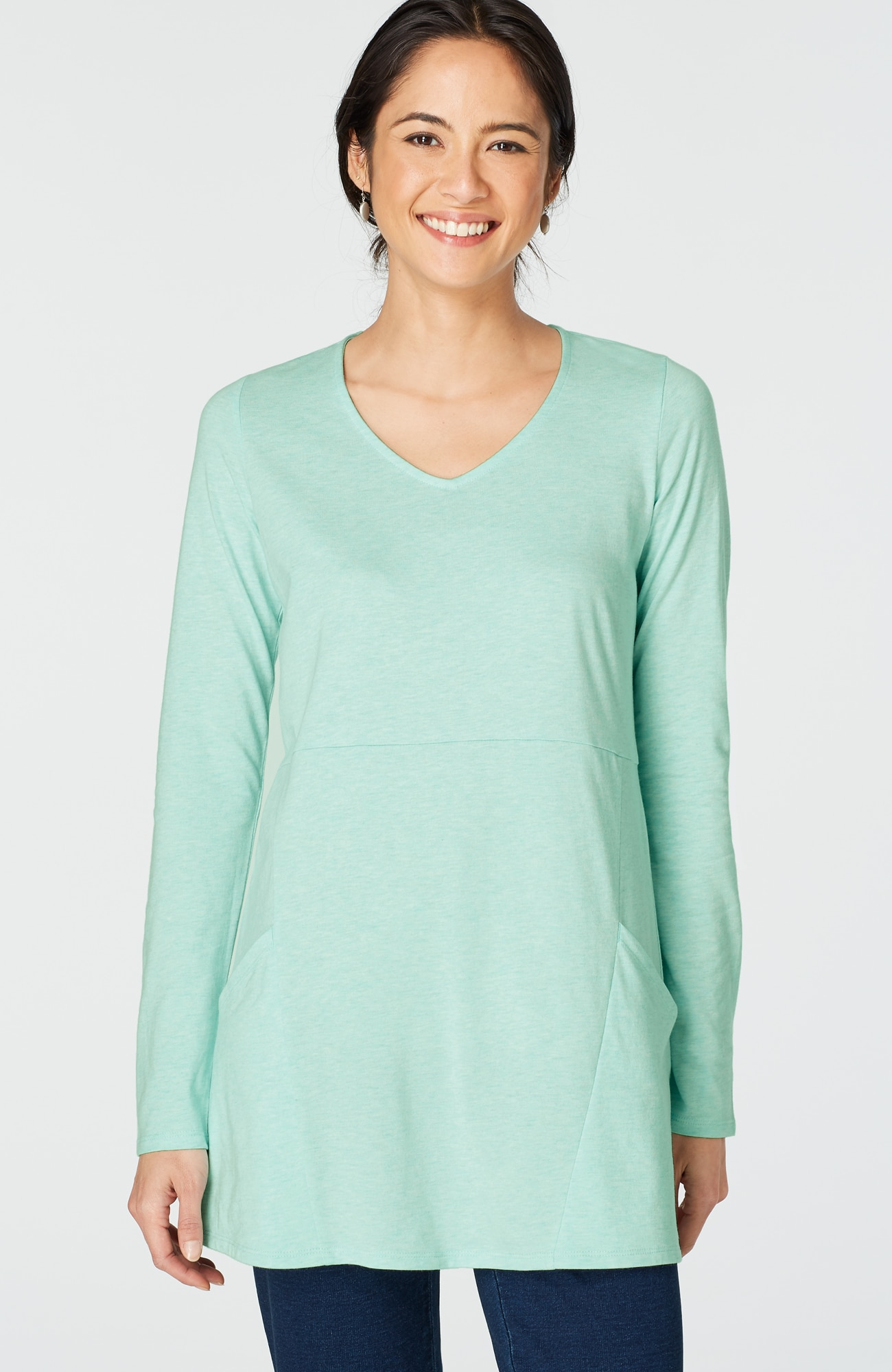 Pure Jill seamed V-neck tunic