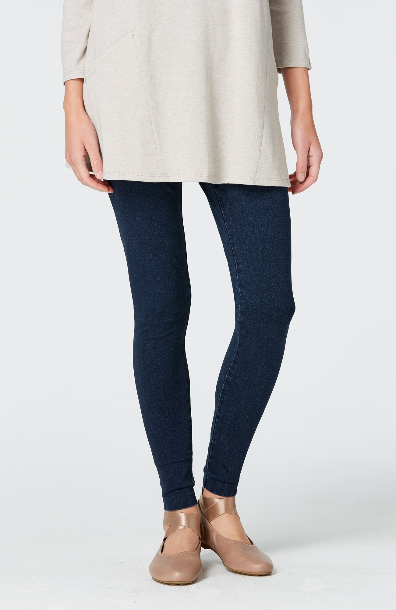 Pure Jill indigo knit leggings