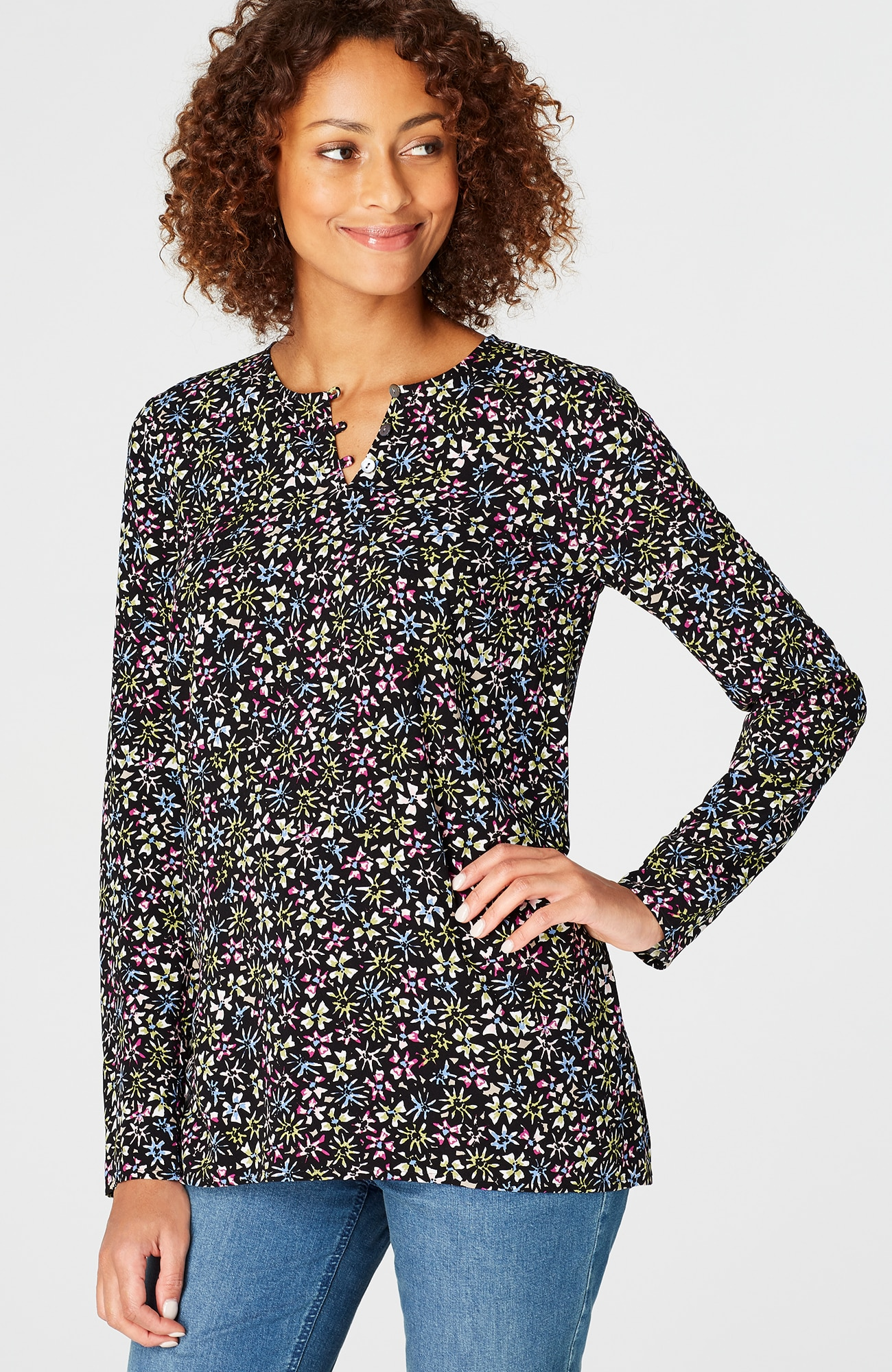 printed rayon elliptical top