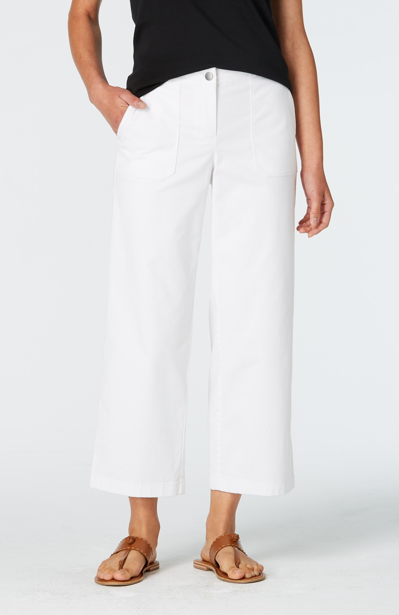 soft cotton-stretch full-leg crops