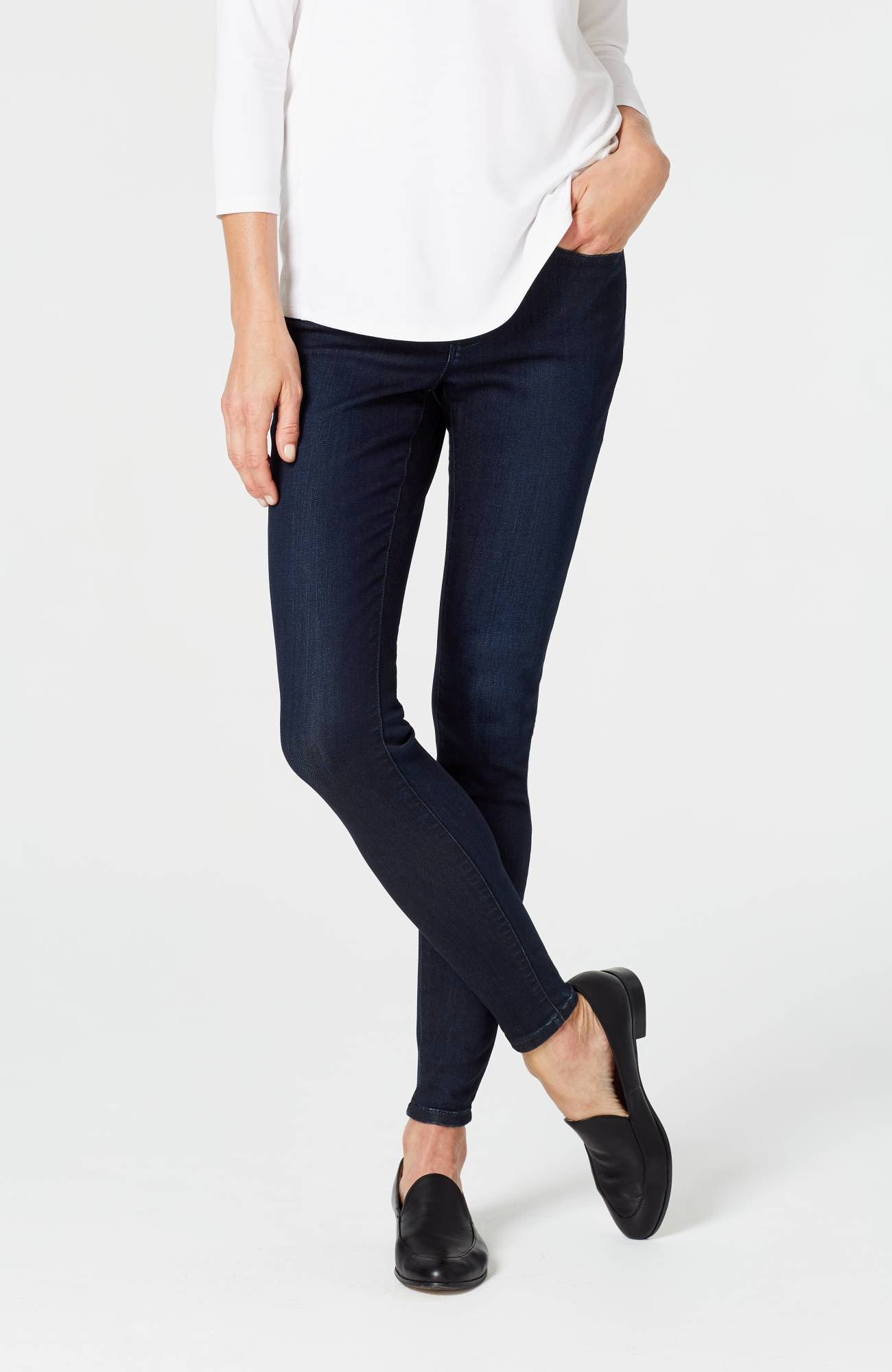 versatile 5-pocket denim leggings
