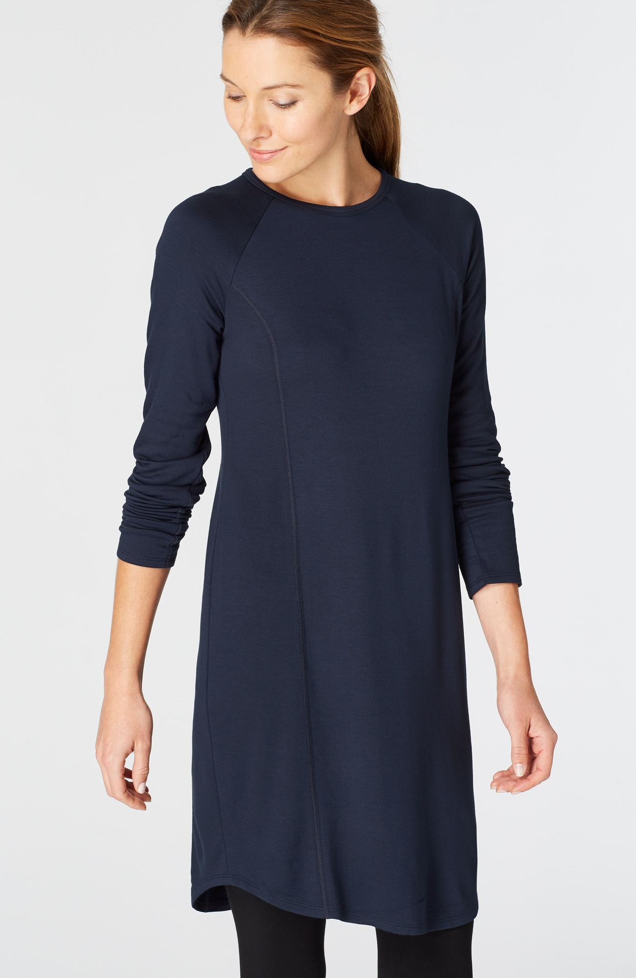Pure Jill Fit seamed shirttail dress