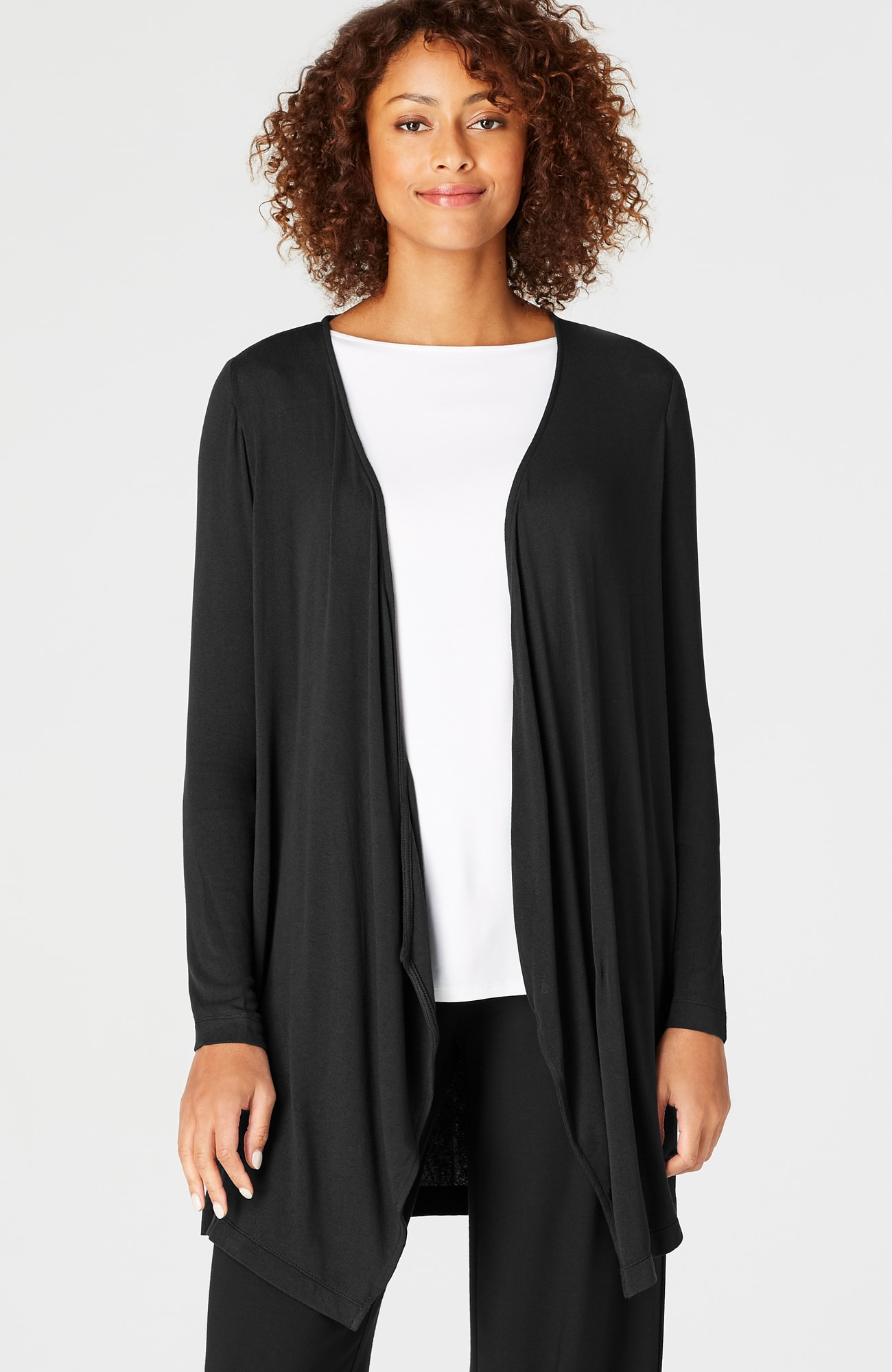Wearever ultrafine draped cardi