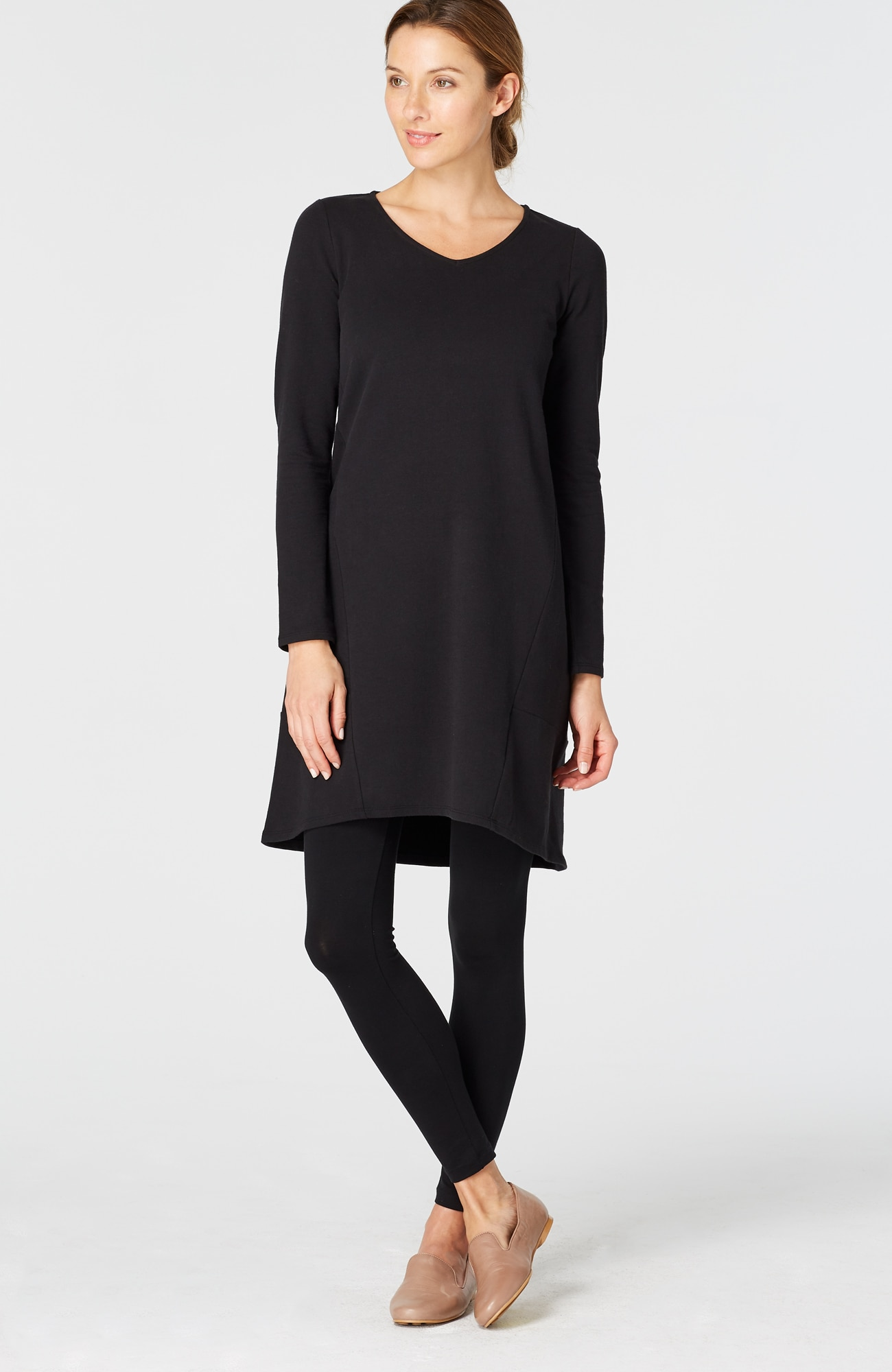 Pure Jill seamed knit dress