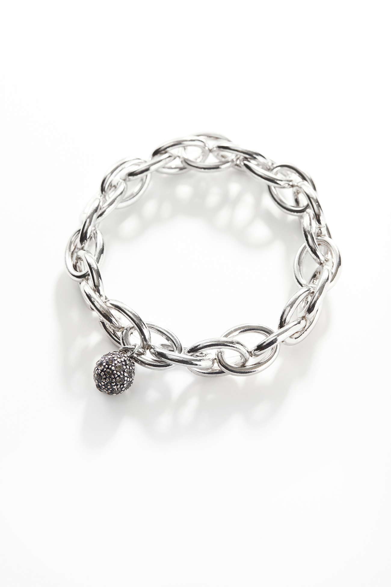 shimmering sculpted-links bracelet