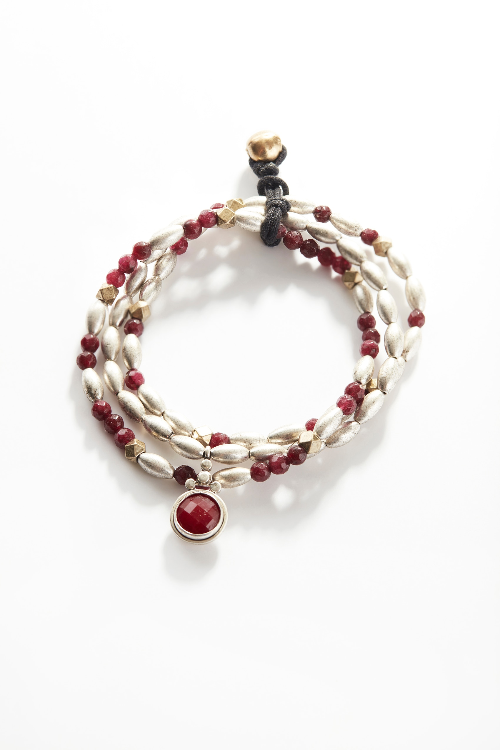 Bordeaux beaded bracelet