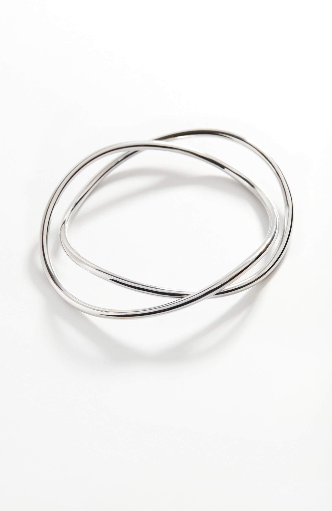 sculpted-metal bangle stack