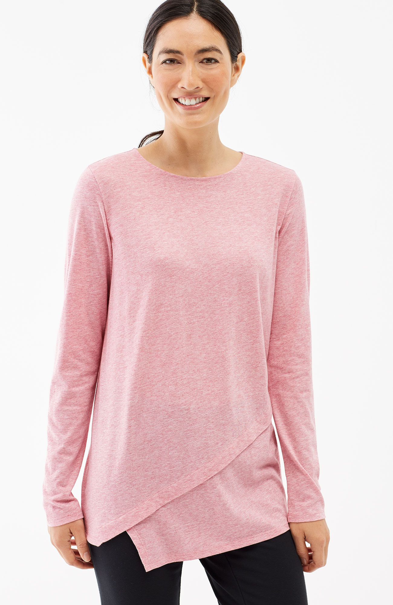 Pure Jill layered asymmetrical tee