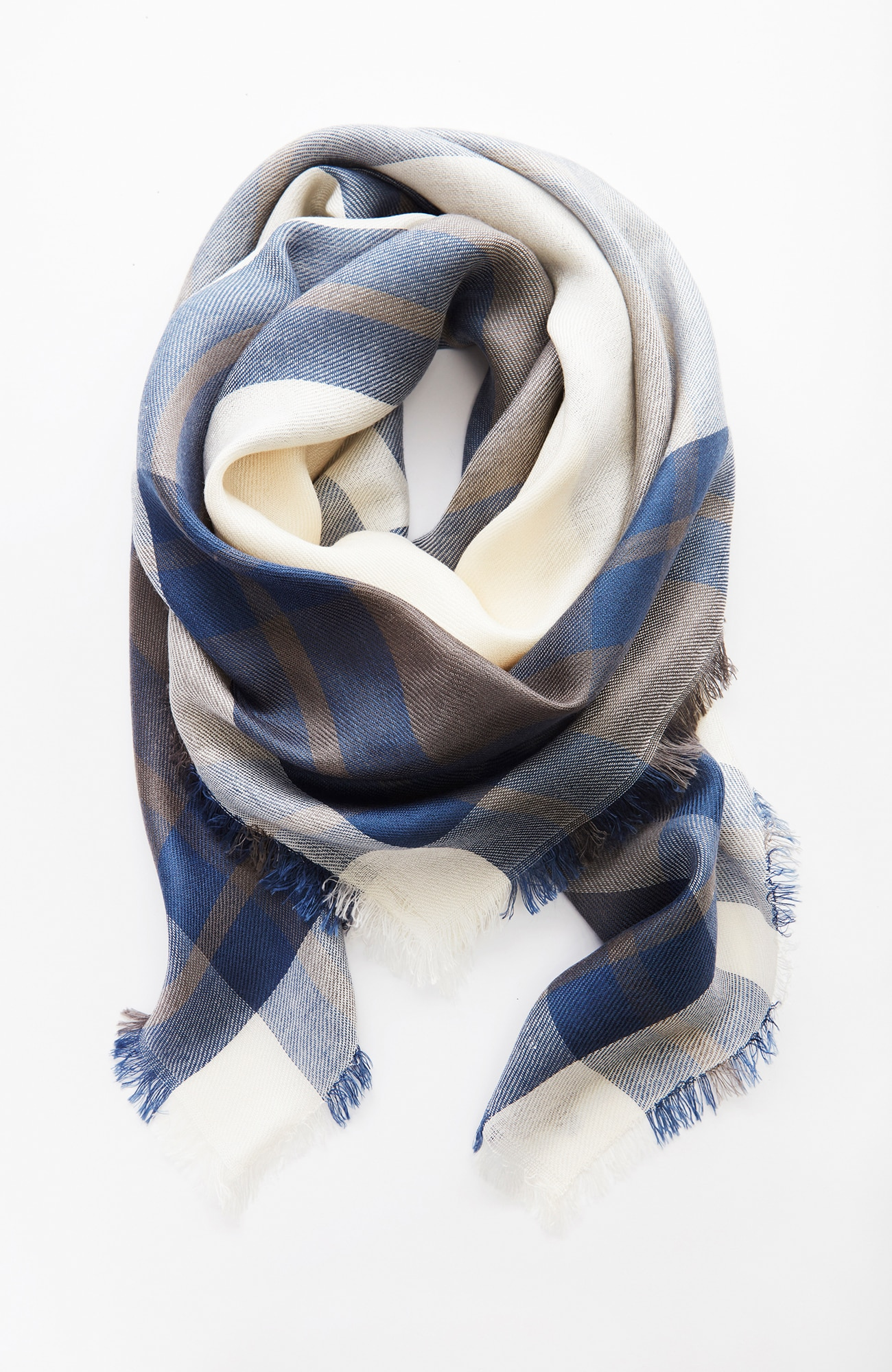 textured plaid square scarf