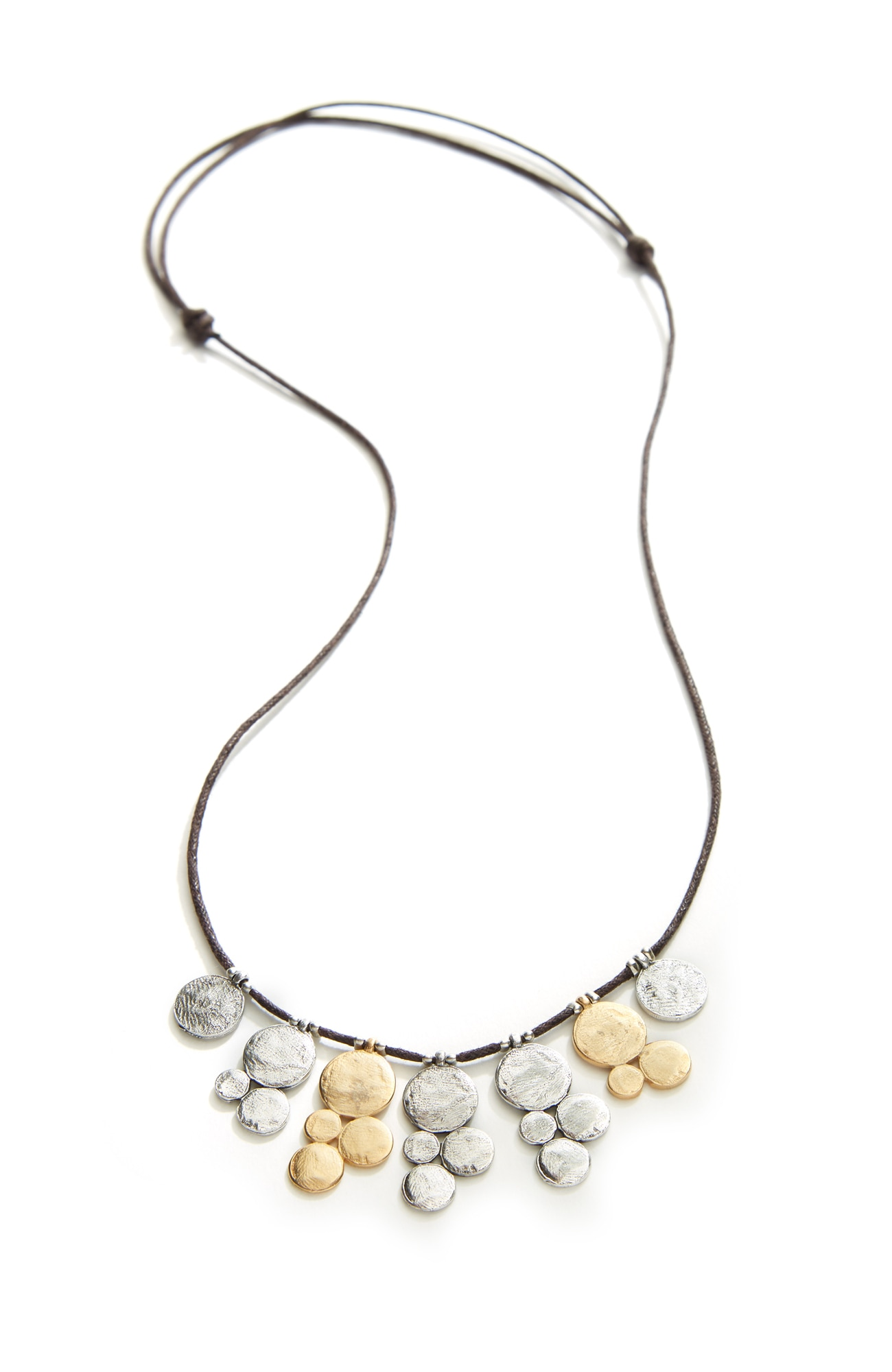 gathered coins short necklace