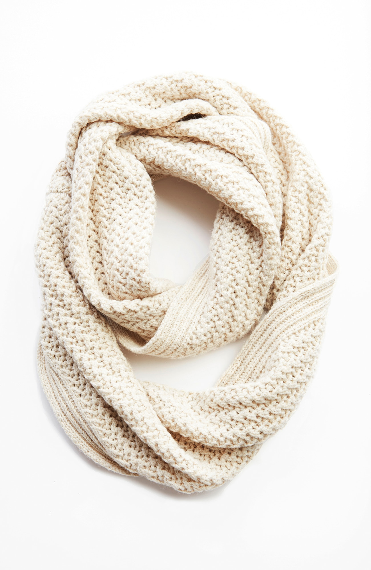 mixed-textures infinity scarf