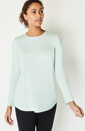 Product Image for Pure Jill Pima-Stretch Shirttail Tee